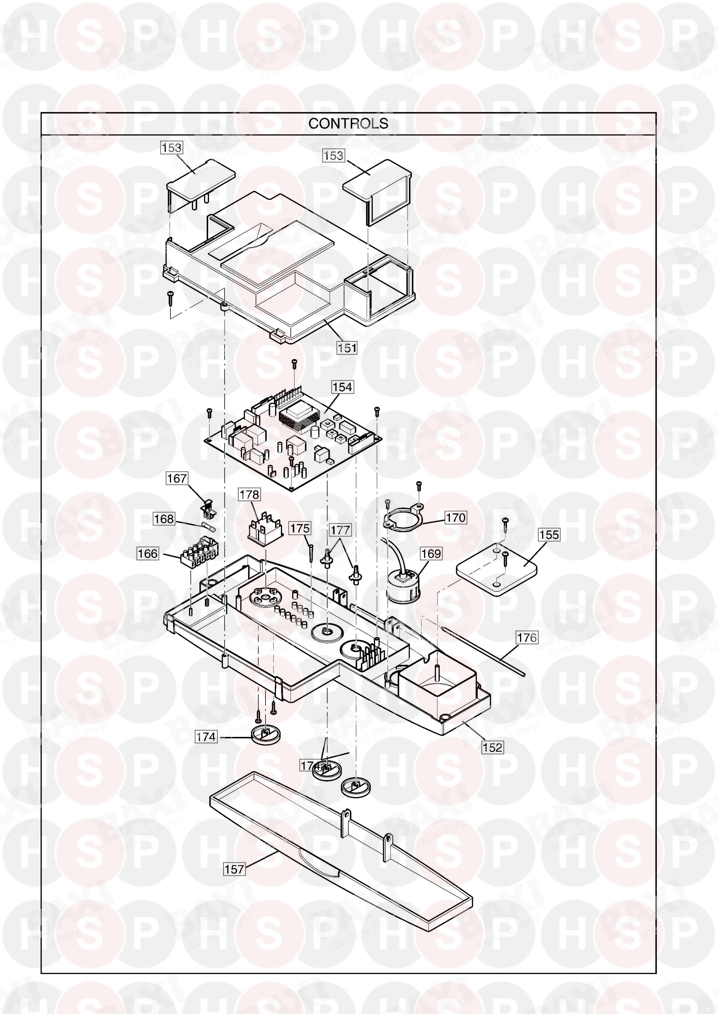 potterton performa 28  control assembly  diagram