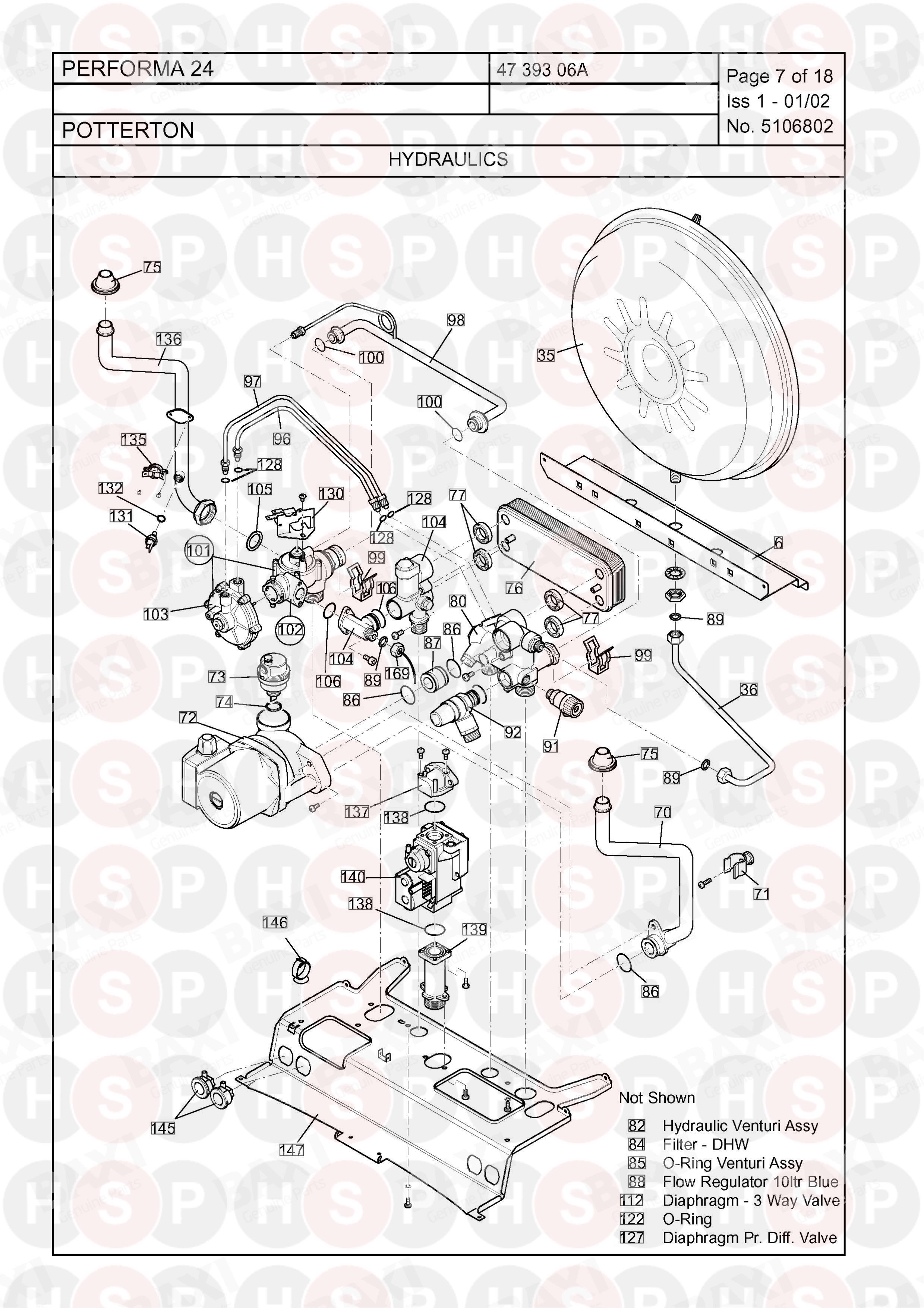Potterton Performa 24 >> Potterton Performa 24 Hydraulics Diagram Heating Spare Parts