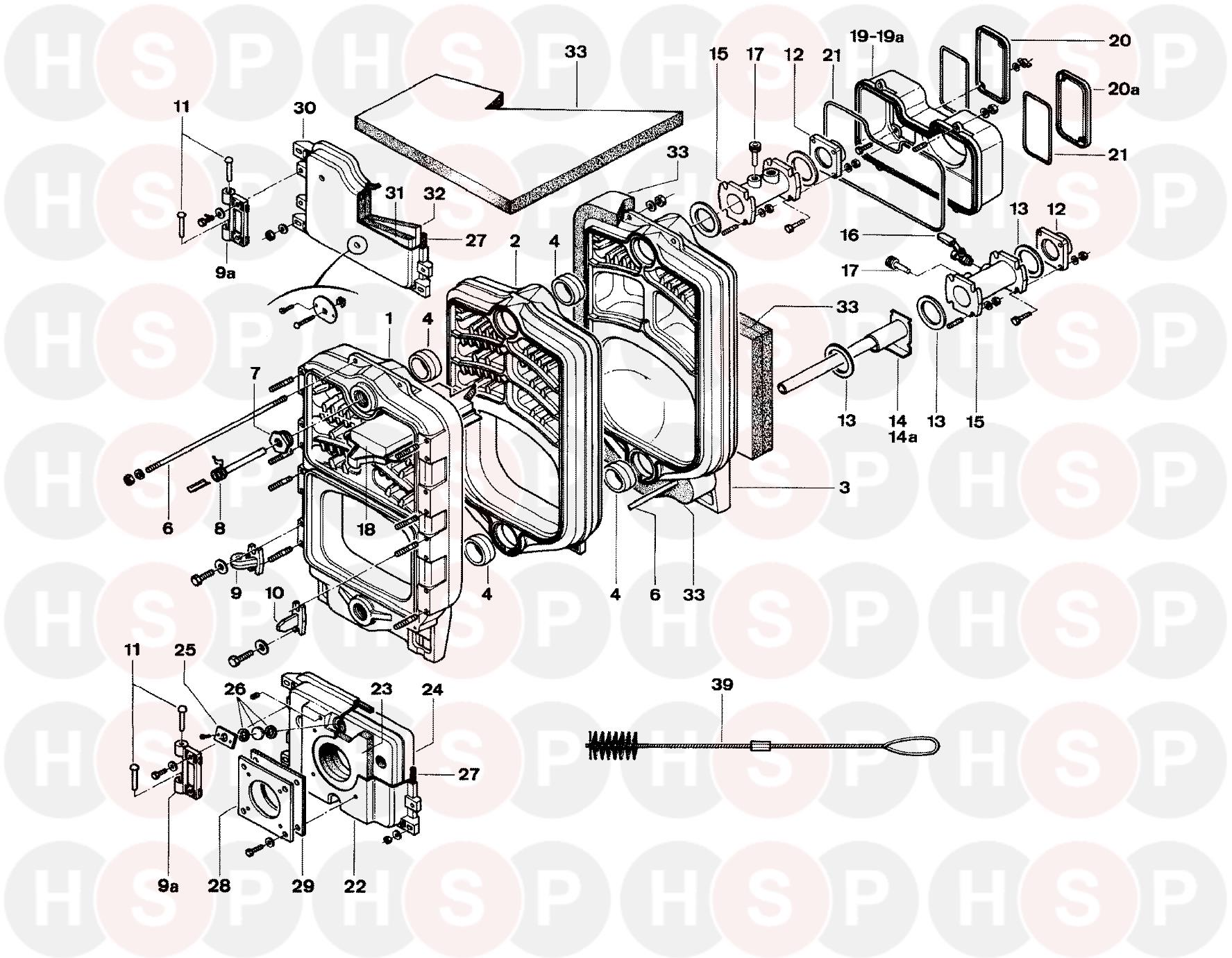 Potterton NXR3 4- 9 SectionS (BOILER EXPLODED VIEW