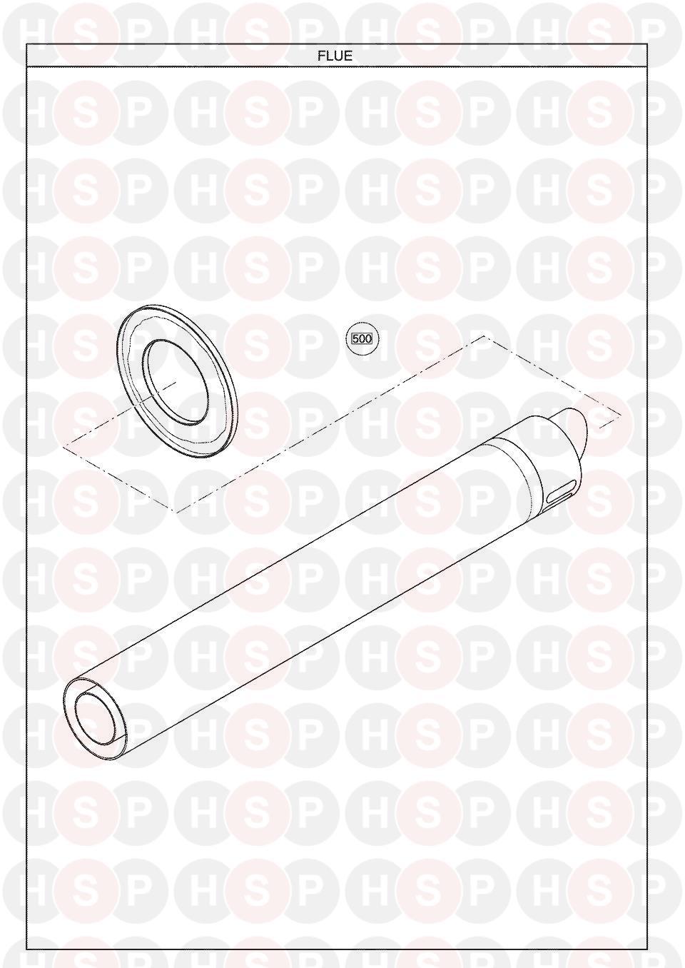 Potterton Suprima 50 He  Flue Diagram