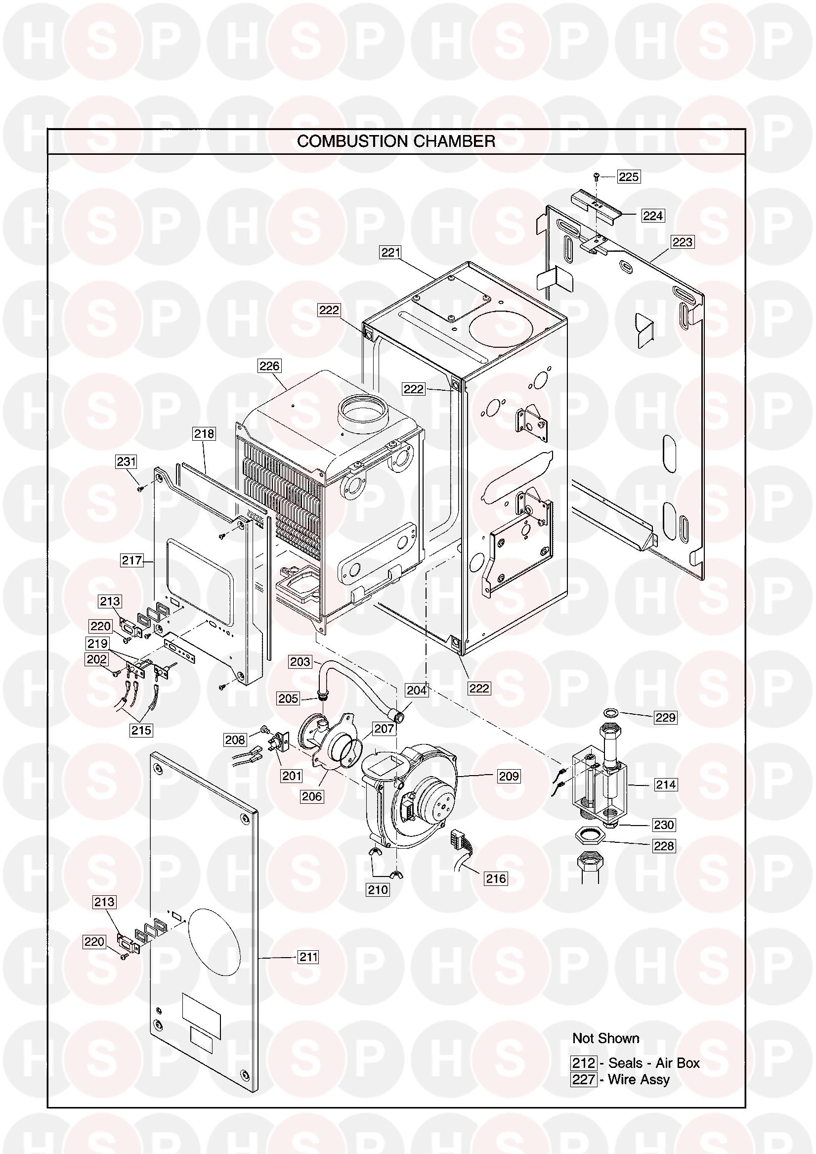 Potterton PROMAX 24 HE (Combustion Chamber) Diagram
