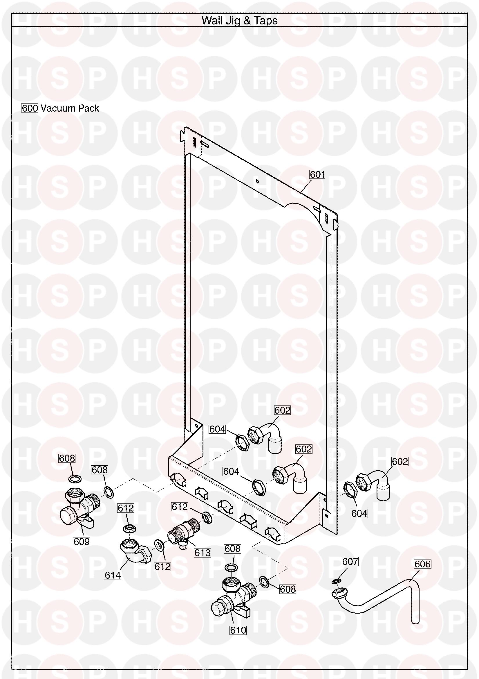 Potterton PERFORMA 24 HE SYSTEM (Wall Jig & Hydraulic