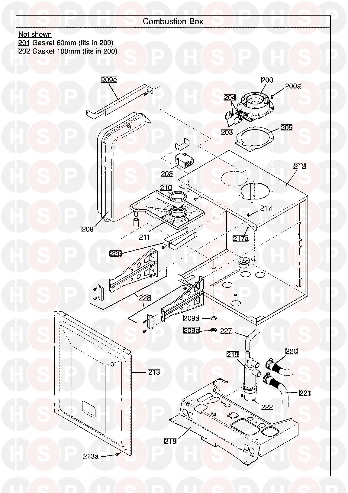 potterton gold system 28 erp serial no  ending in bc  combustion box  diagram