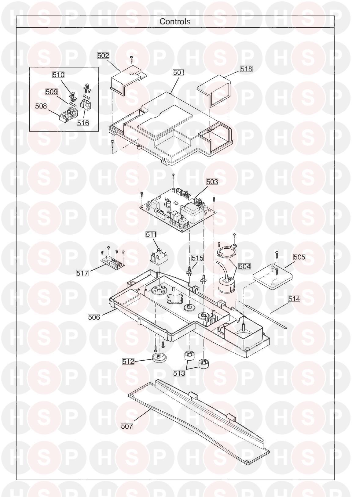 Potterton PROMAX SYSTEM 32 ERP Appliance Diagram (CONTROLS