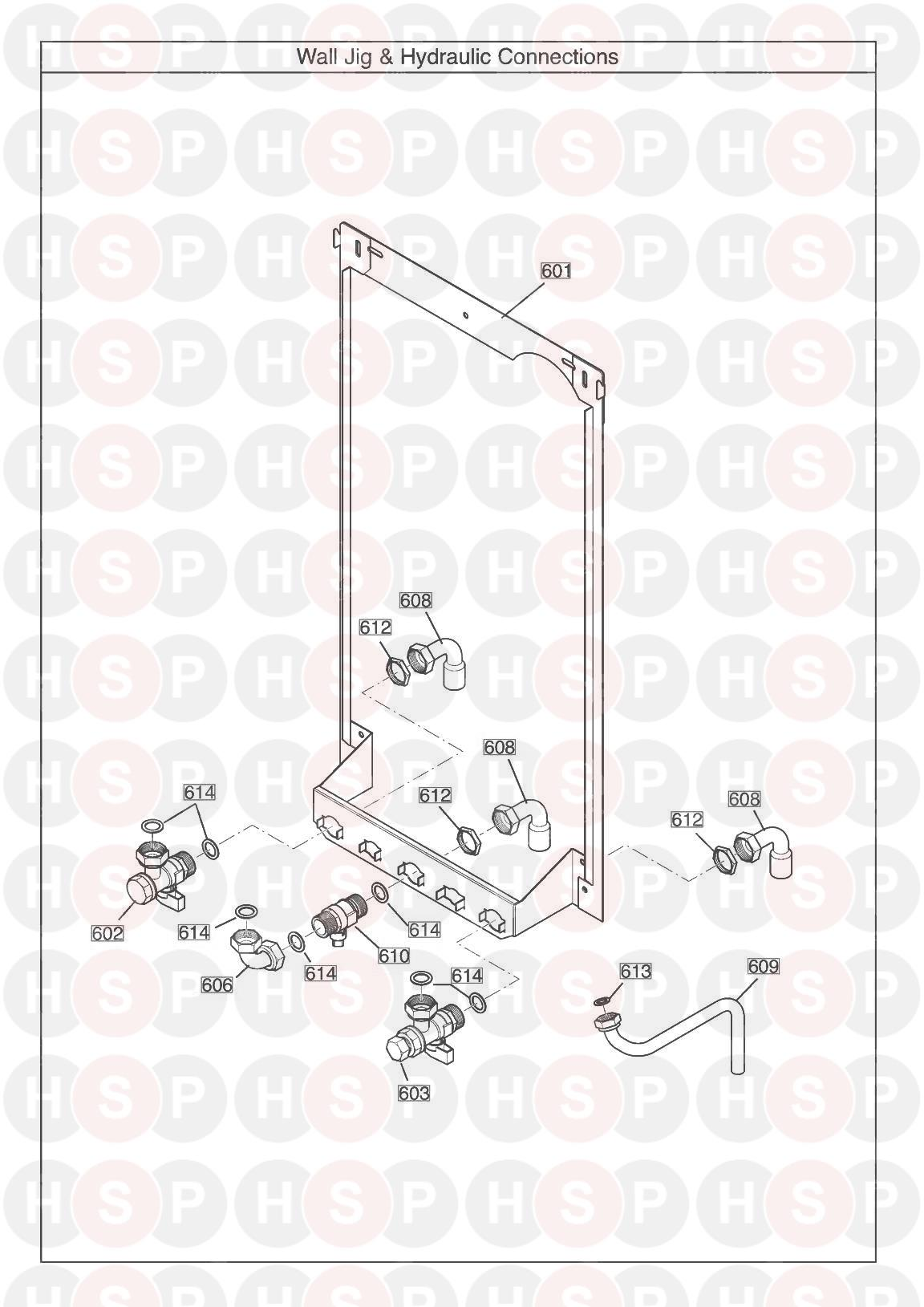 Potterton PROMAX SYSTEM 18 ERP (WALL JIG) Diagram