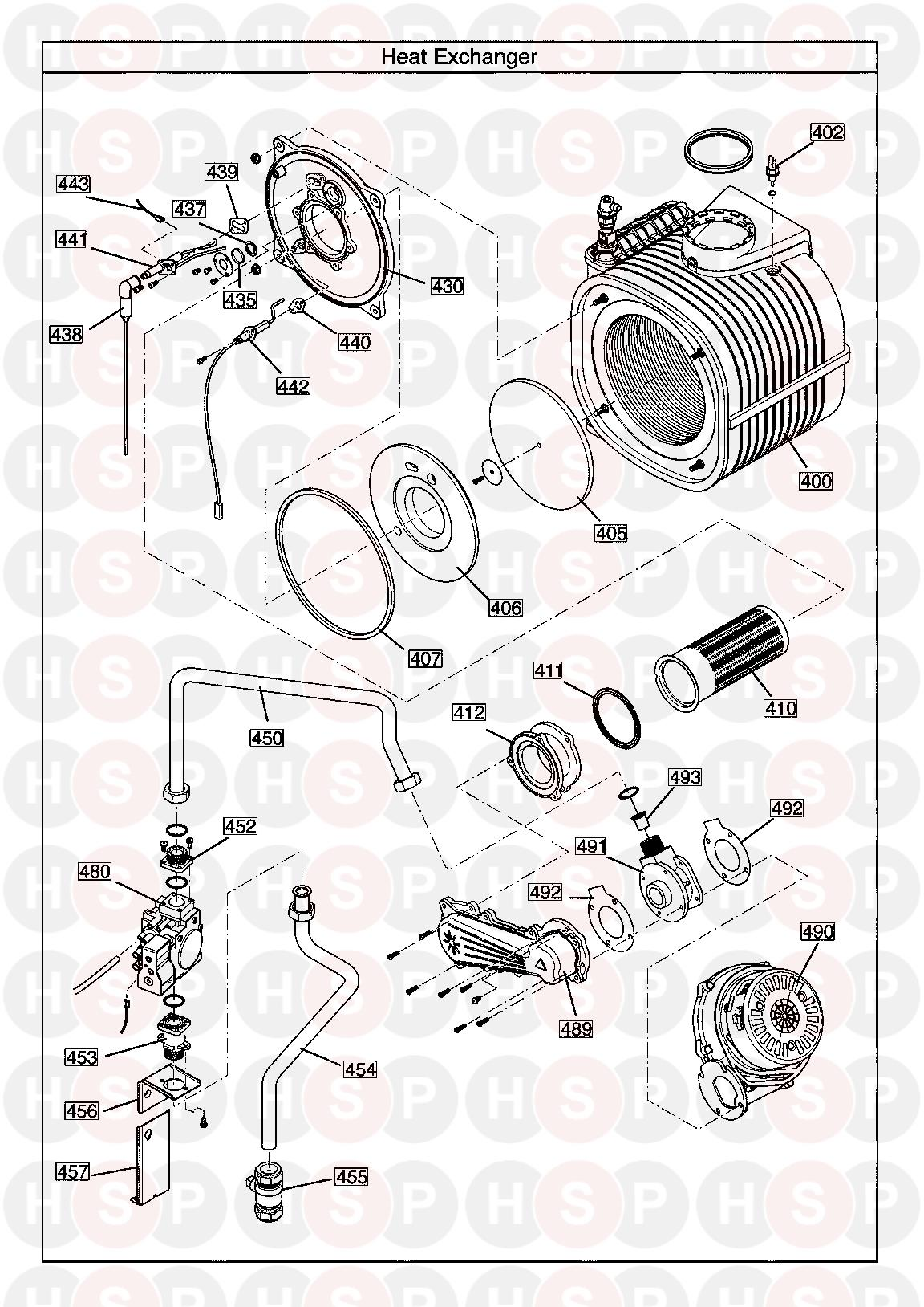 Potterton Promax He Store 90 Litre  Heat Exchanger Diagram