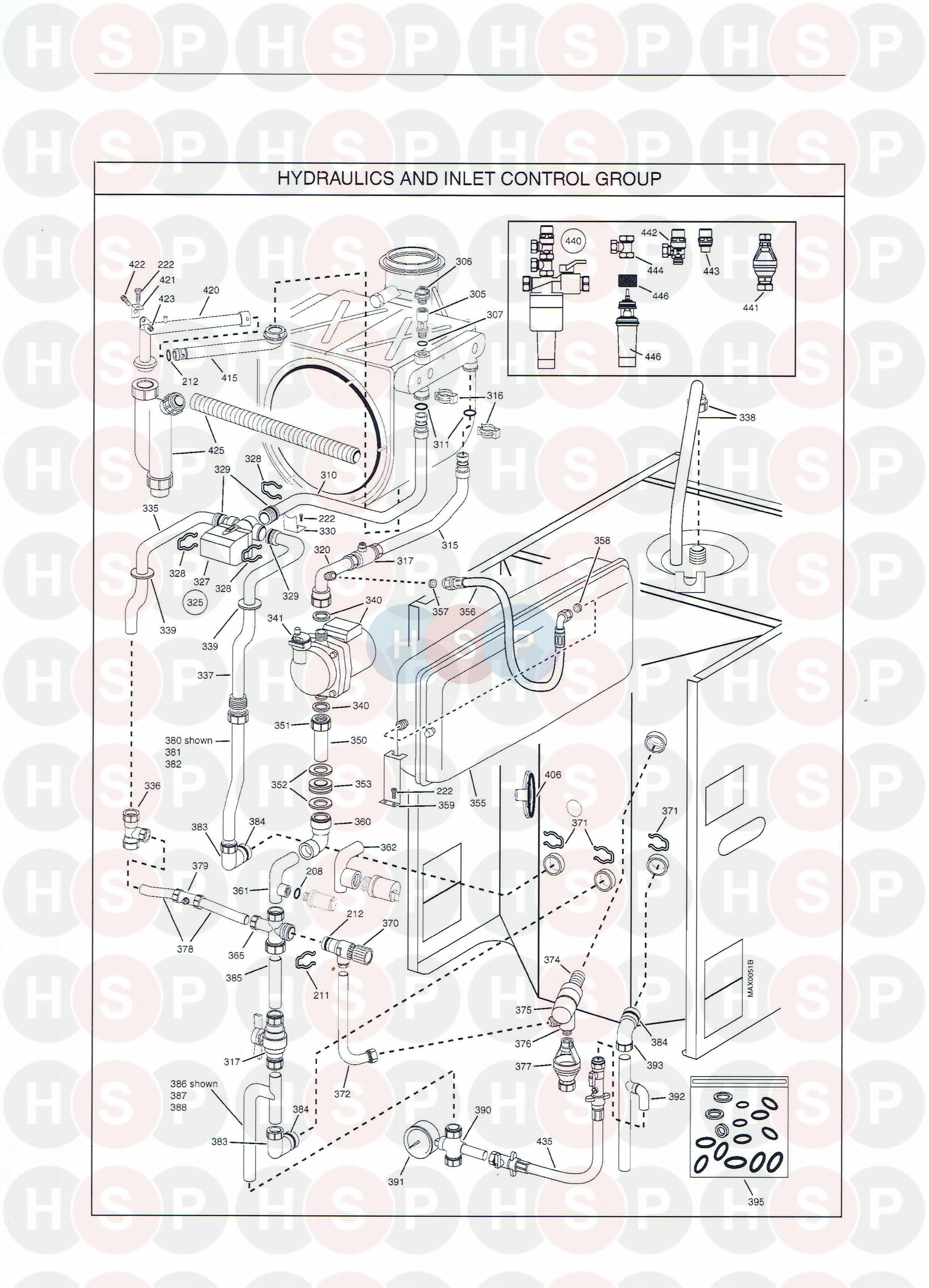 Potterton Powermax 115 He  Hydraulics Diagram