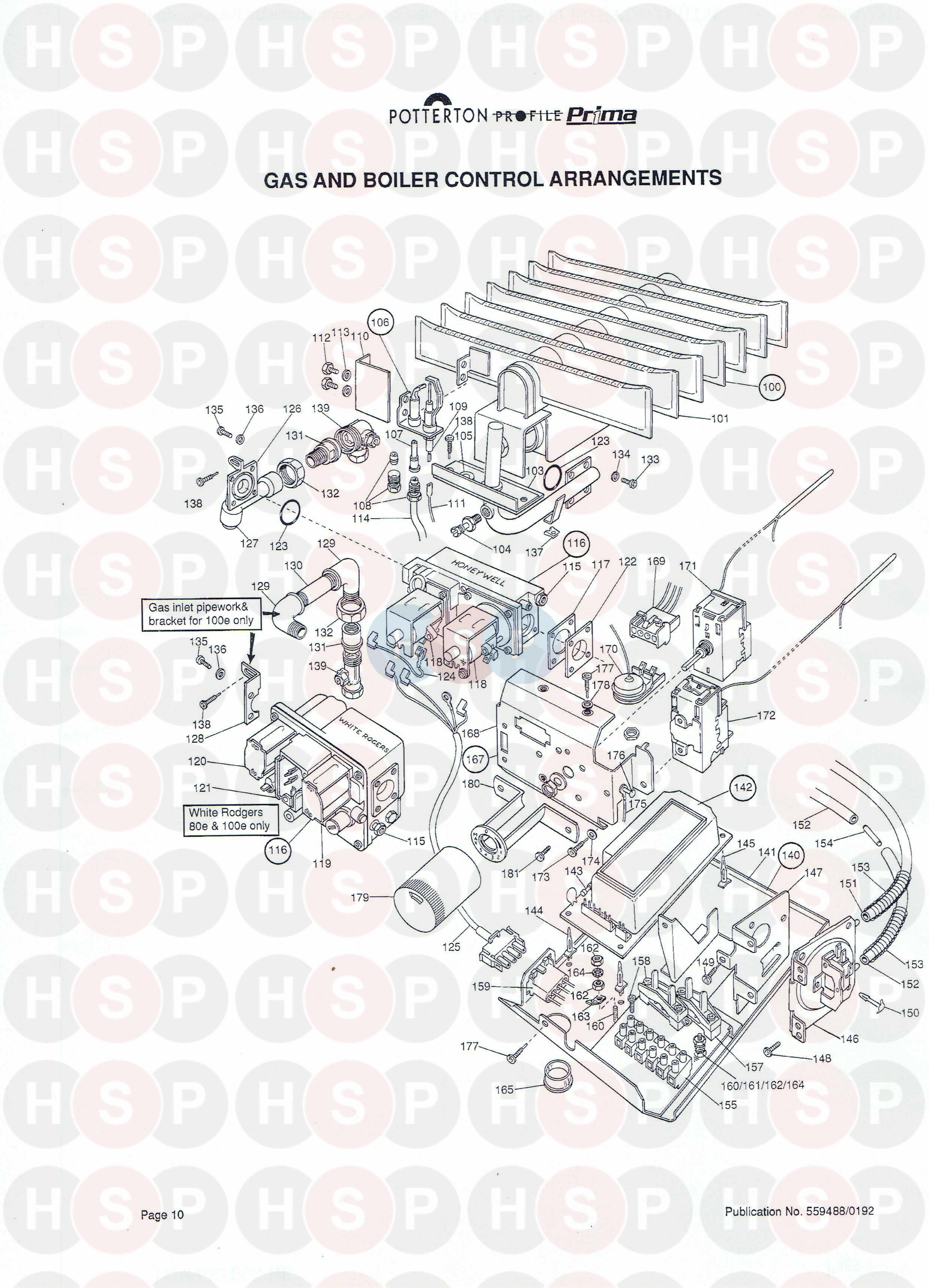 Controls diagram for Potterton PROFILE PRIMA 40E Click the diagram to open  it on a new page