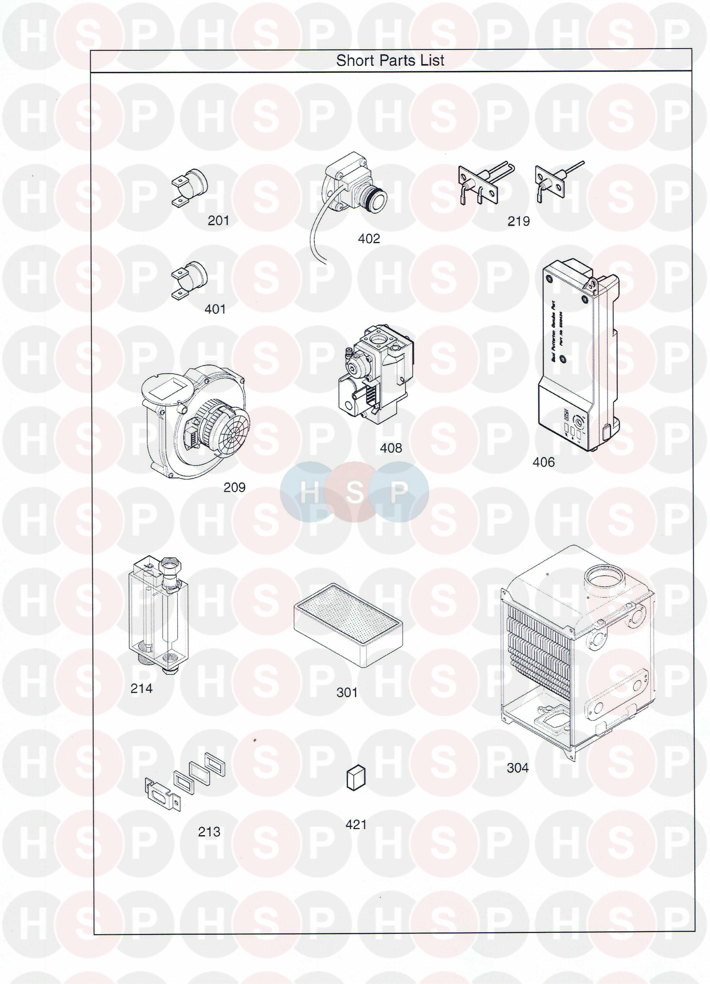 Potterton PROMAX 30 HE PLUS (SHORT PARTS LIST) Diagram