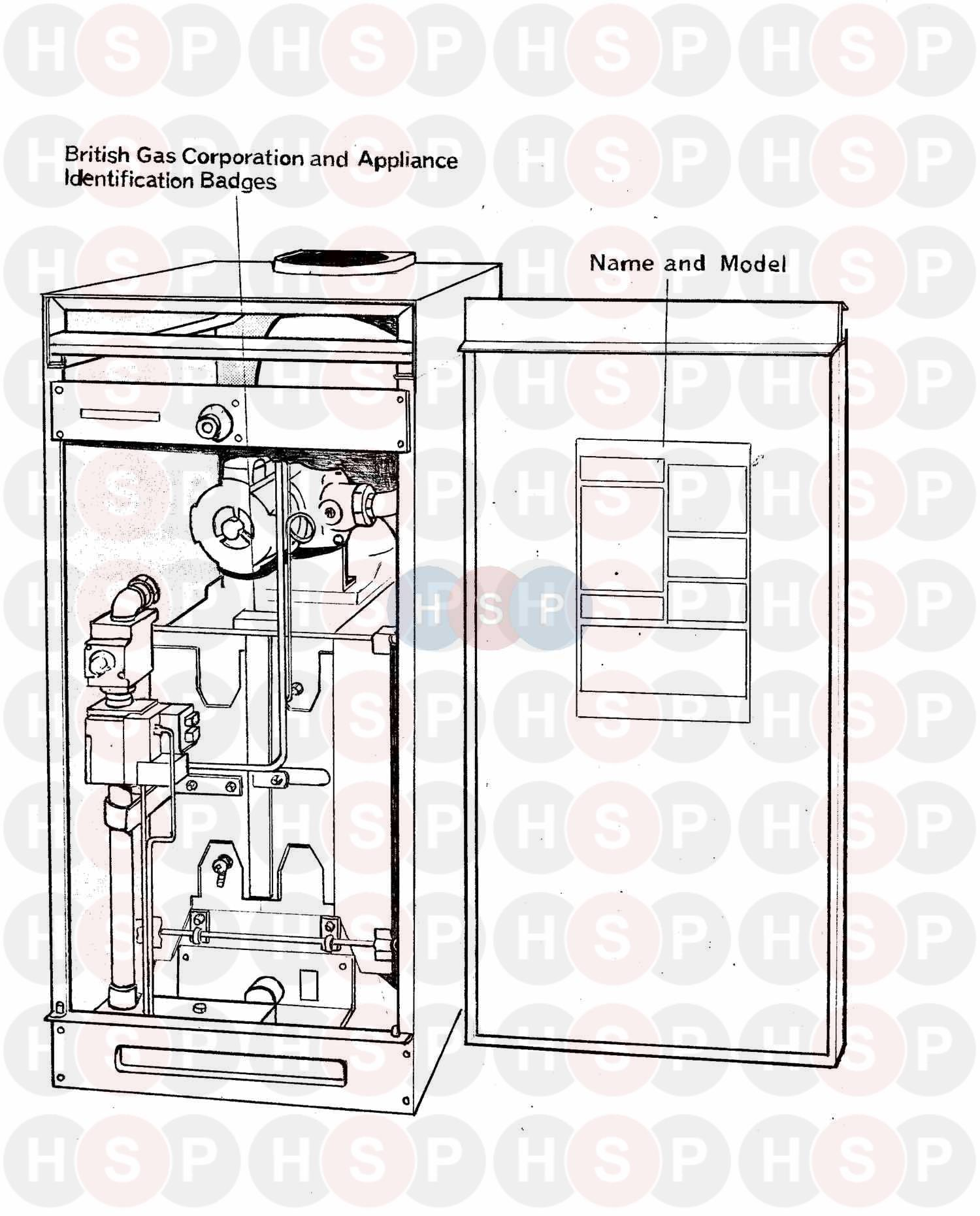 APPLIANCE OVERVIEW diagram for Potterton C55/16 BE AND SB