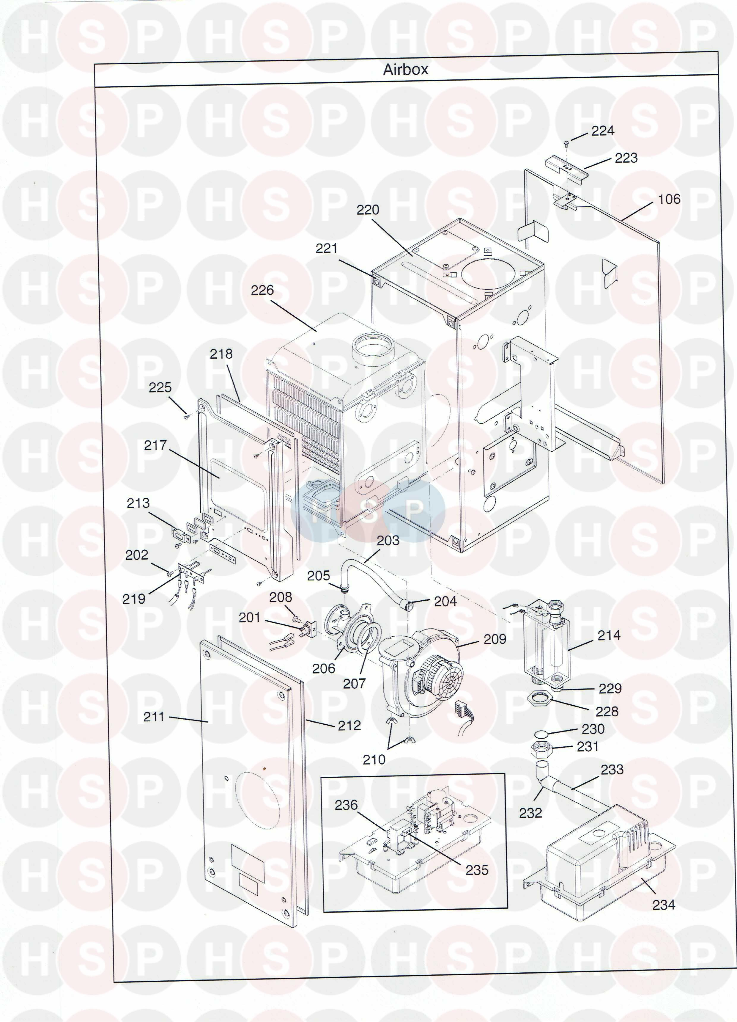 Potterton Promax 30 FSB /& 30HE PLUS CALDAIA Sigillo Sportello scatola di combustione 242489