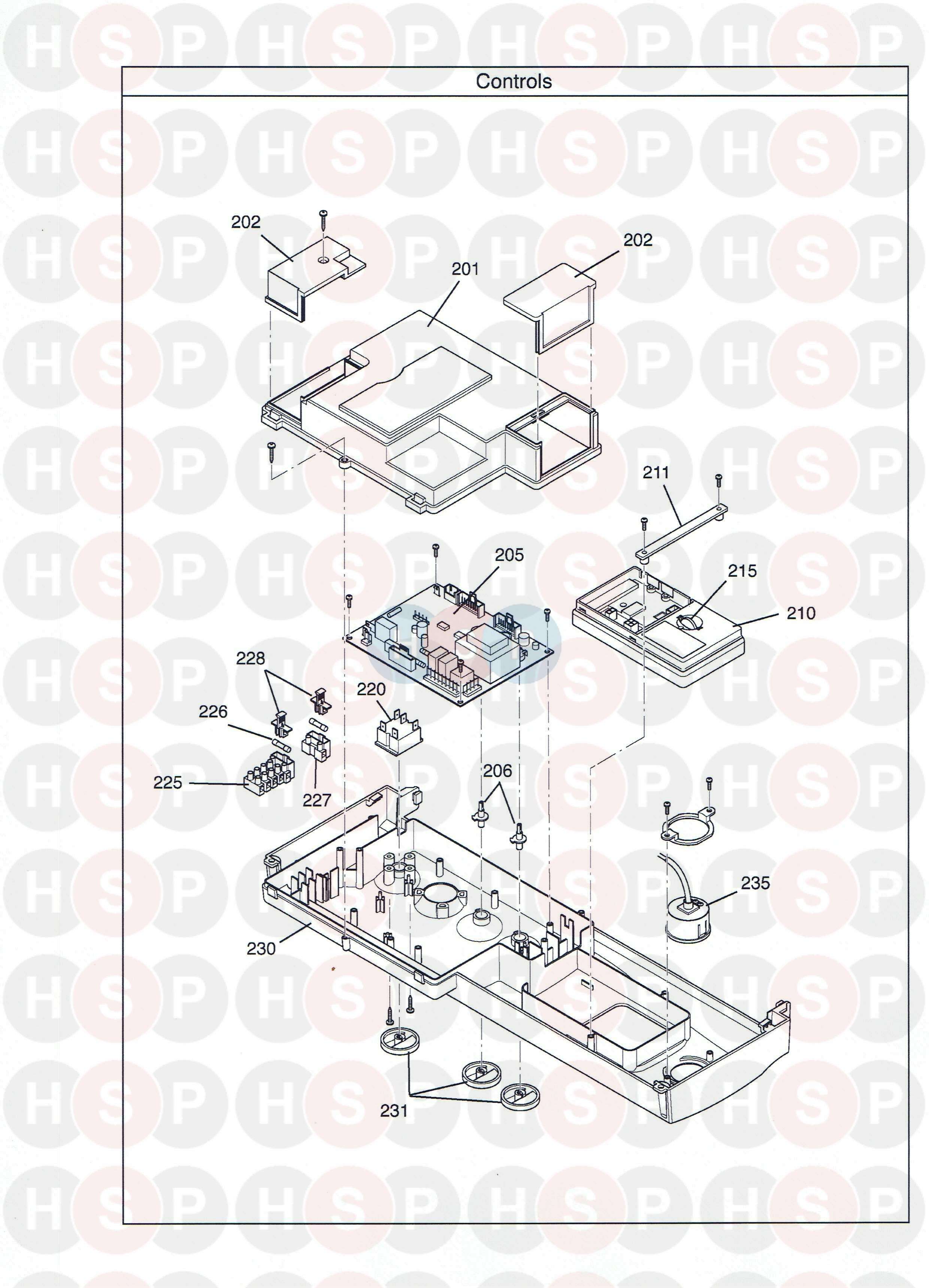 Potterton PROMAX HE STORE 90 LITRE (Controls) Diagram