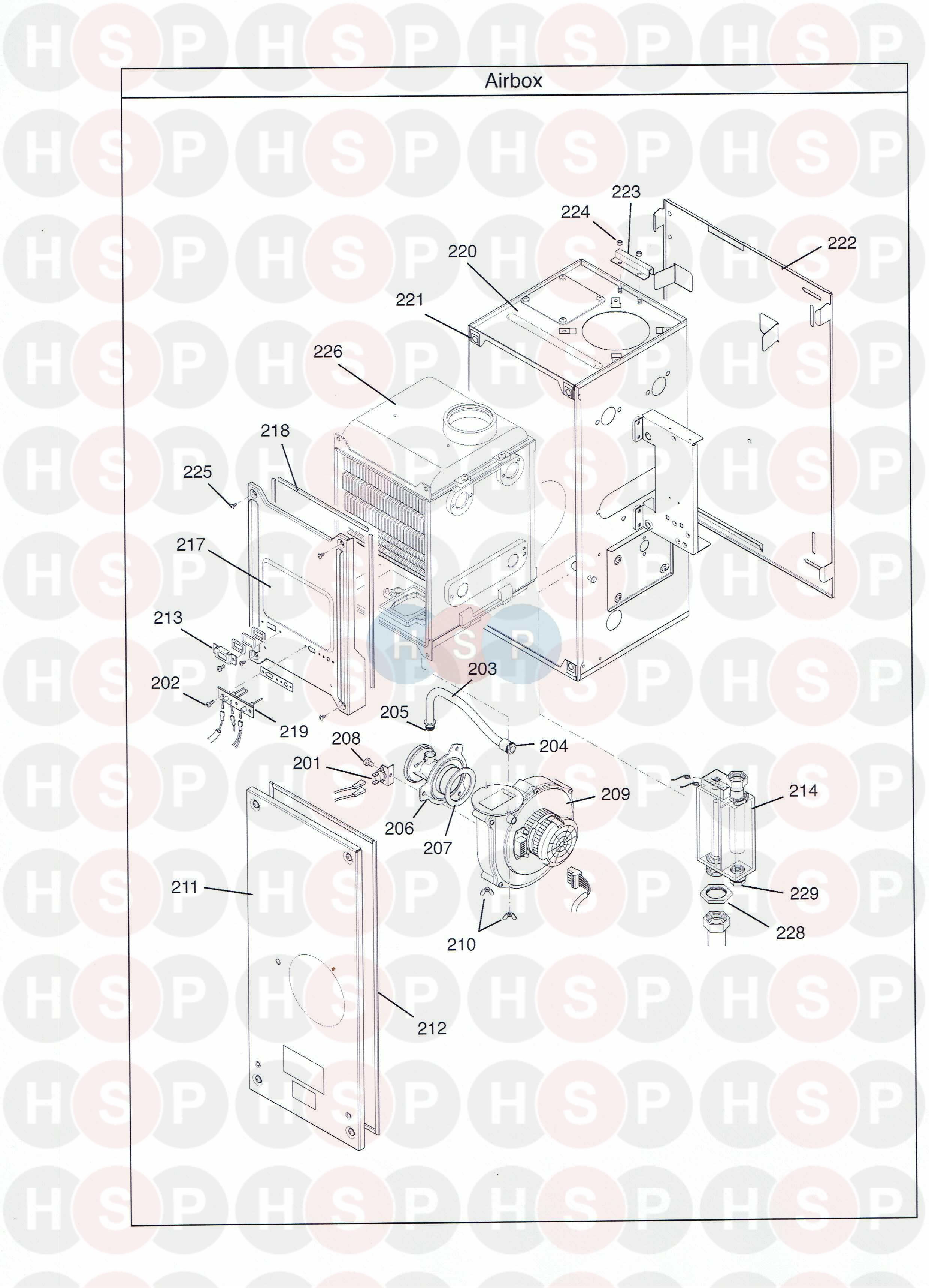 potterton gold h 15 appliance diagram  air box