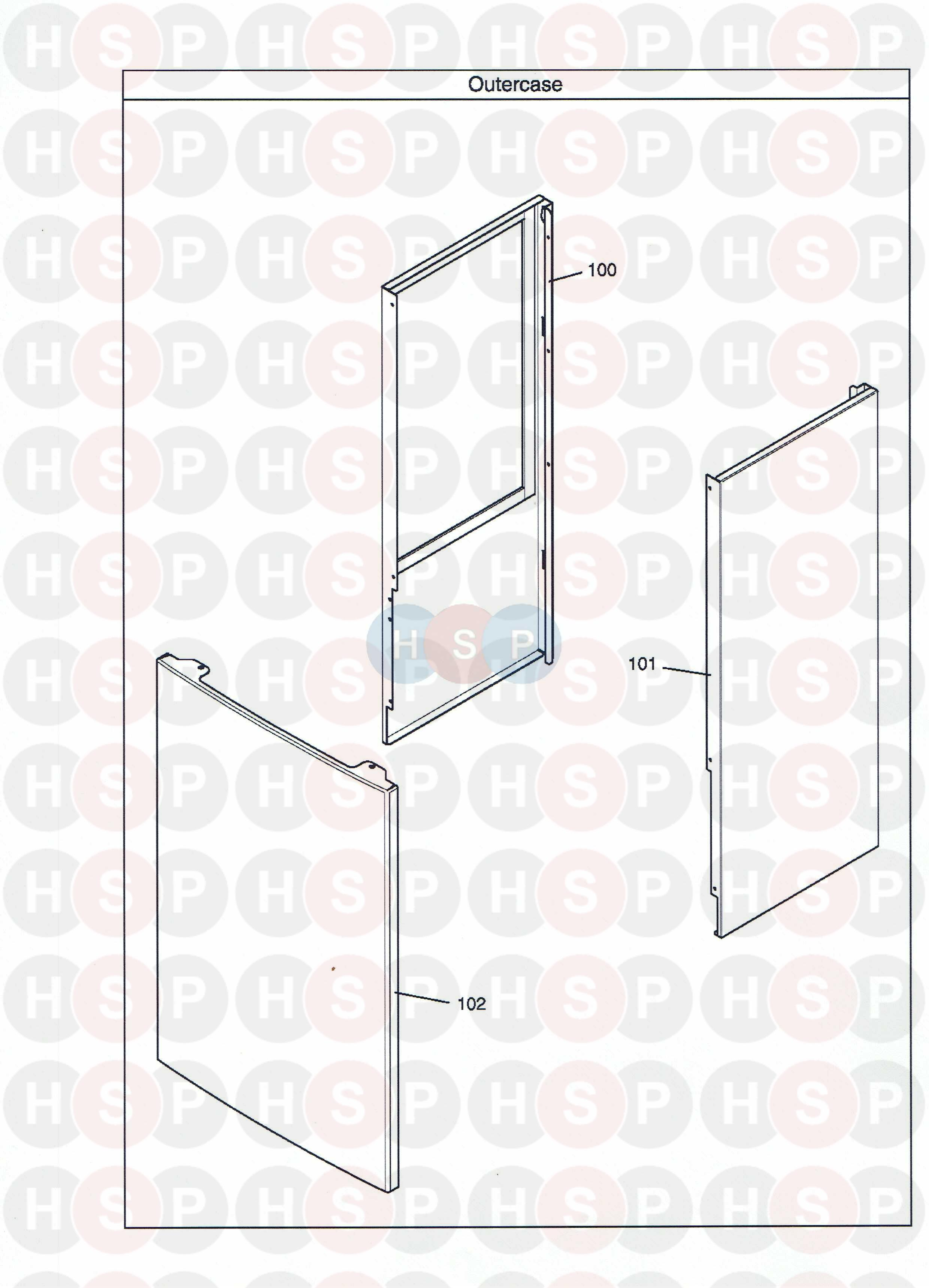 Potterton Gold 28 He Combi Outer Case Diagram Heating