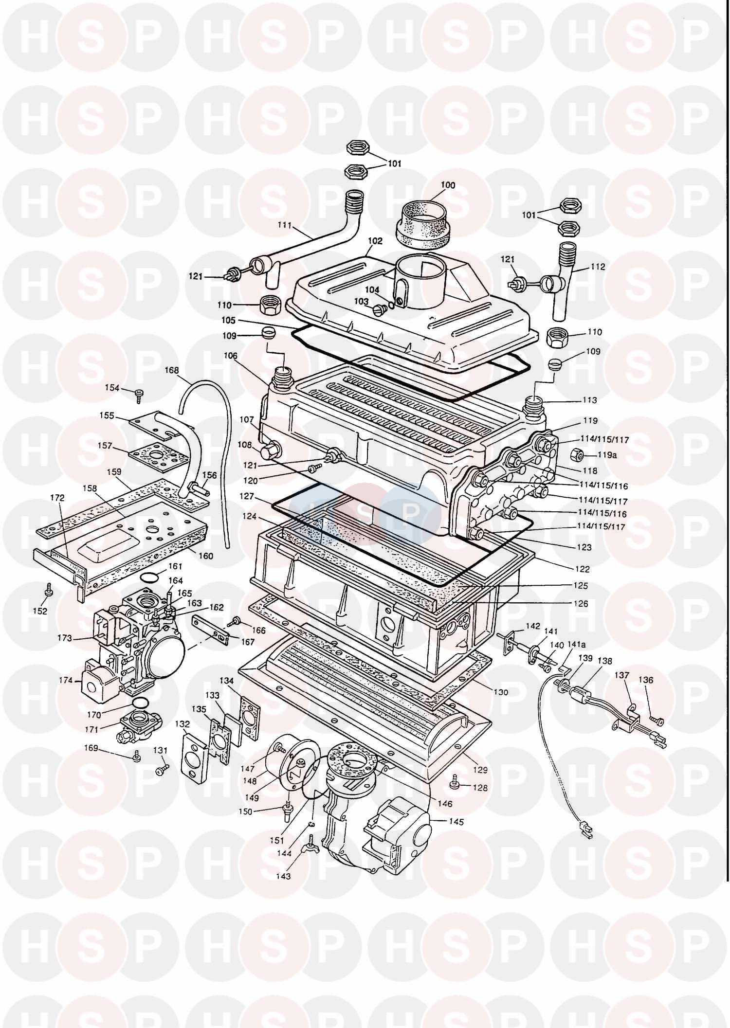 potterton envoy 60 appliance diagram  assembly 1