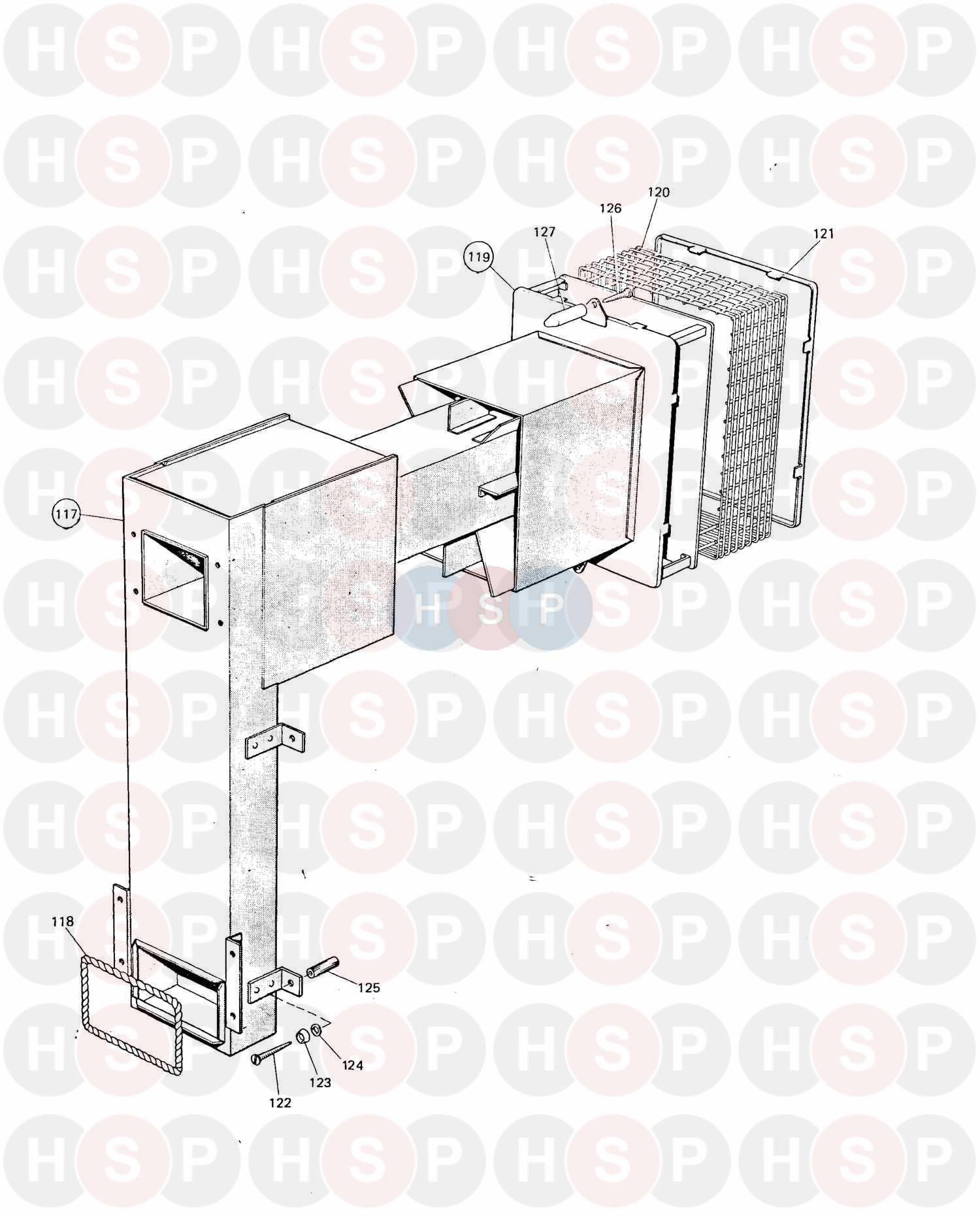 potterton flamingo rs 50 wall mounted appliance diagram  air duct  u0026 terminal