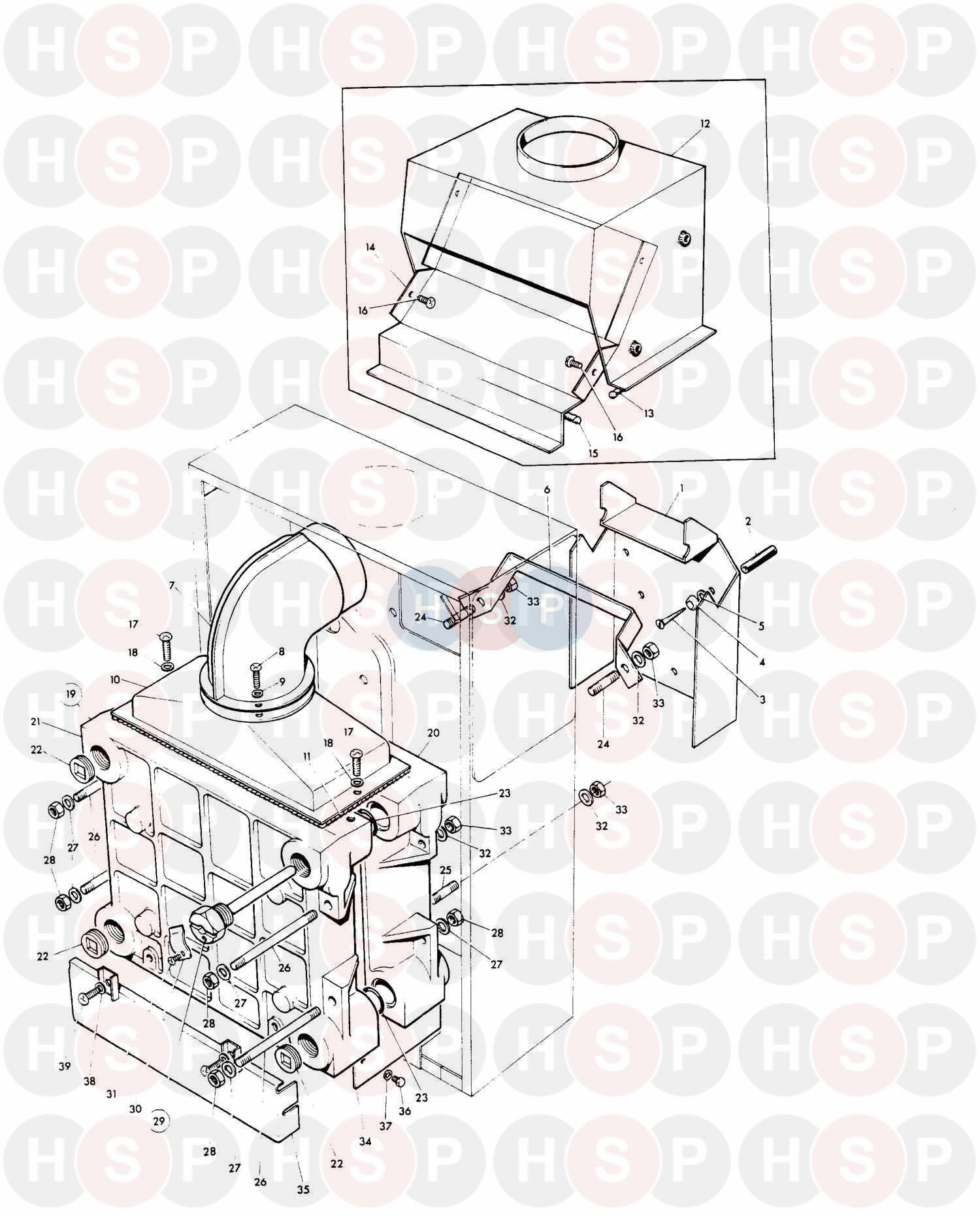 Potterton FLAMINGO 2 CF 20-30 (Heat Exchanger & Flue Hood