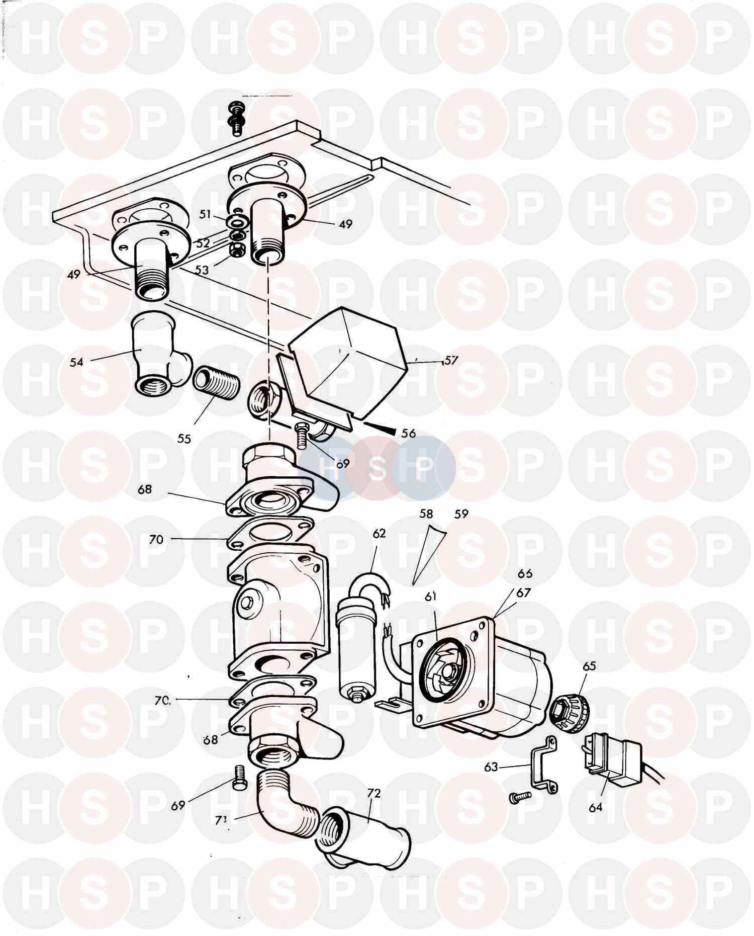 Potterton FRS 52 (LATE MODEL) (ASSEMBLY 1) Diagram