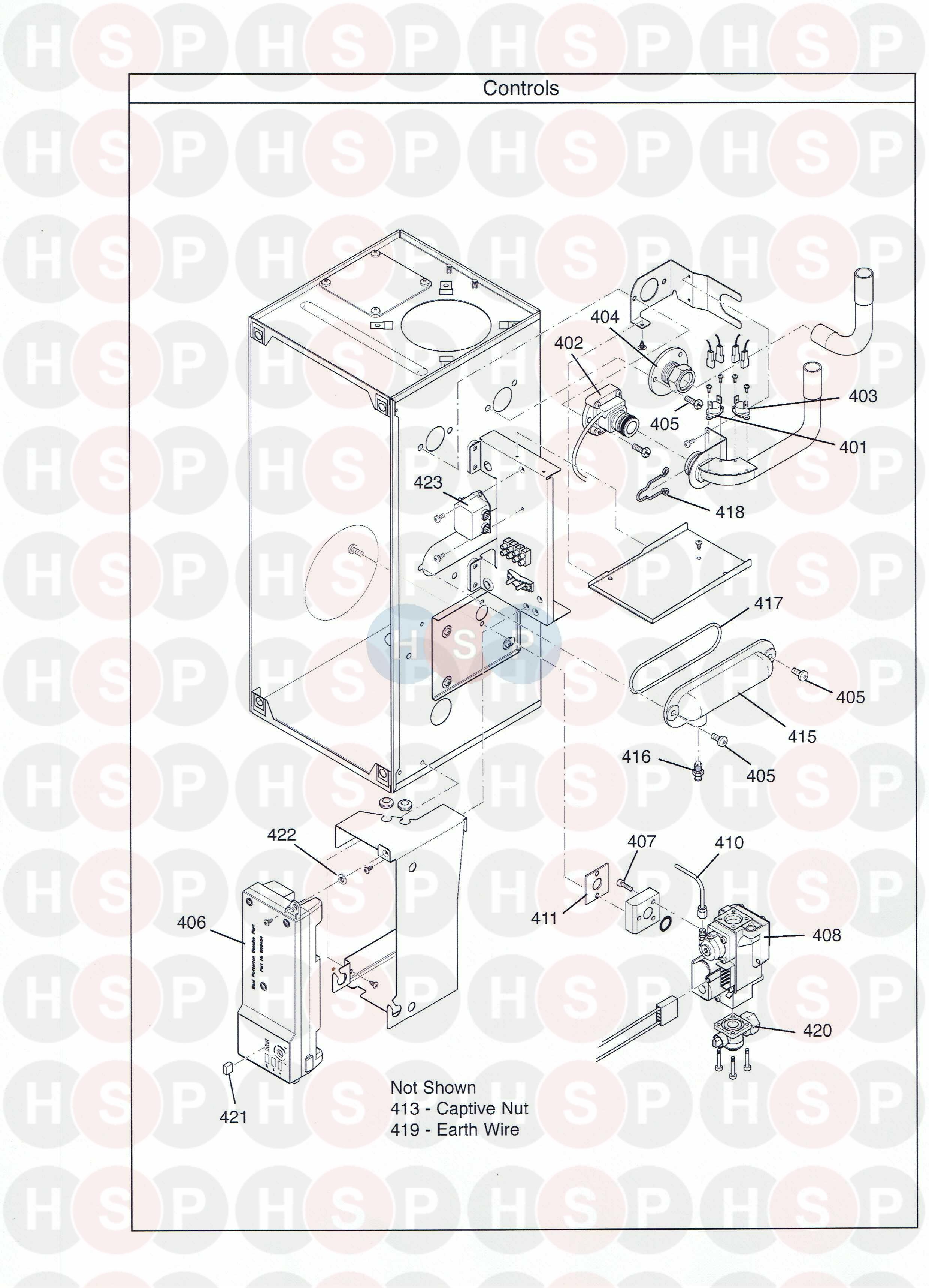 Potterton Promax Sl15 He Plus  Control Assembly  Diagram