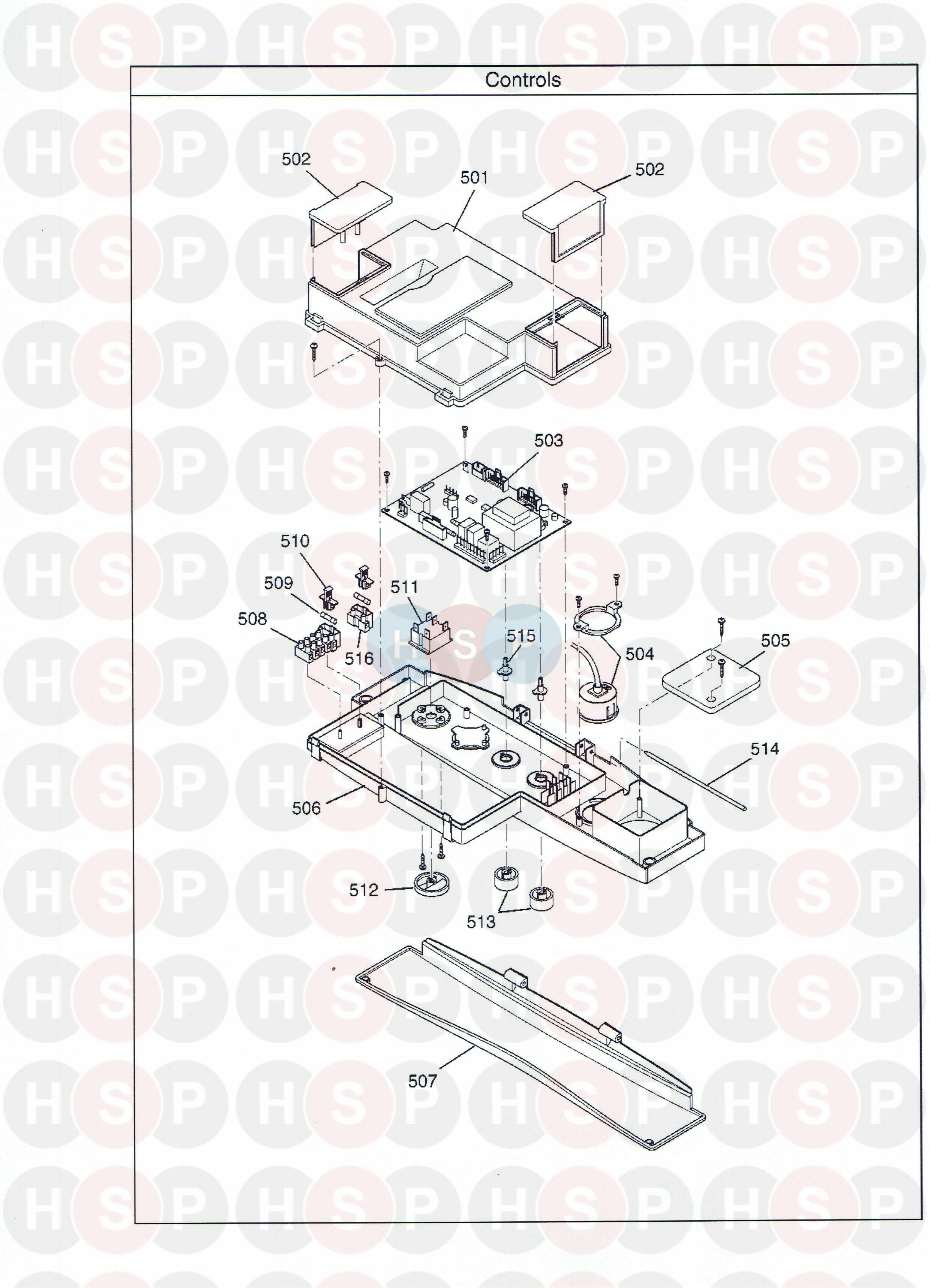 potterton promax combi 28 he plus a appliance diagram  control assemblies
