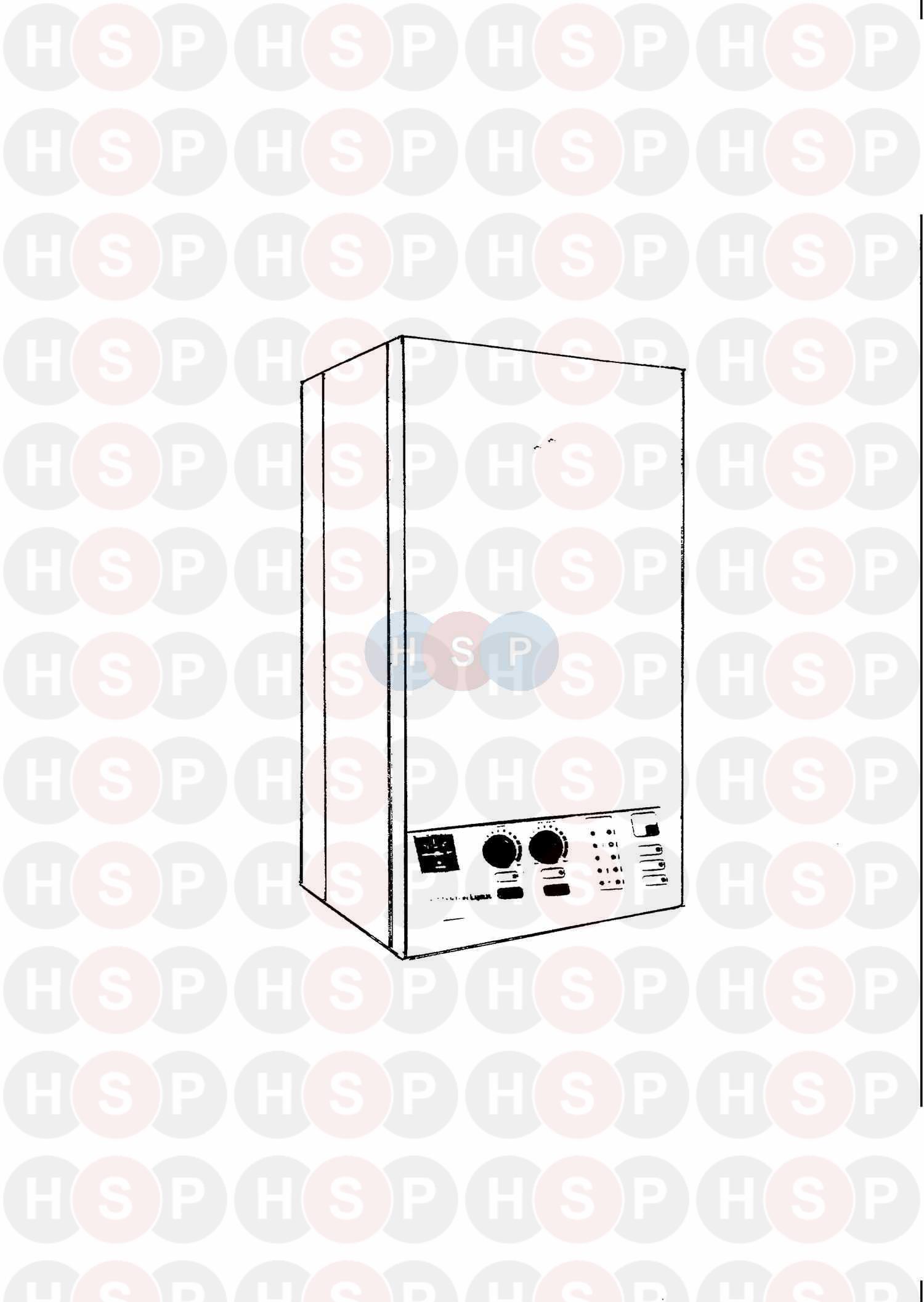 Potterton LYNX RS EARLY MODEL Appliance Diagram