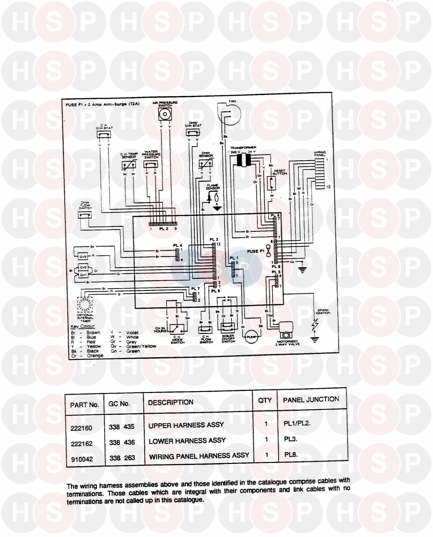 potterton lynx 2 lpg  wiring  diagram