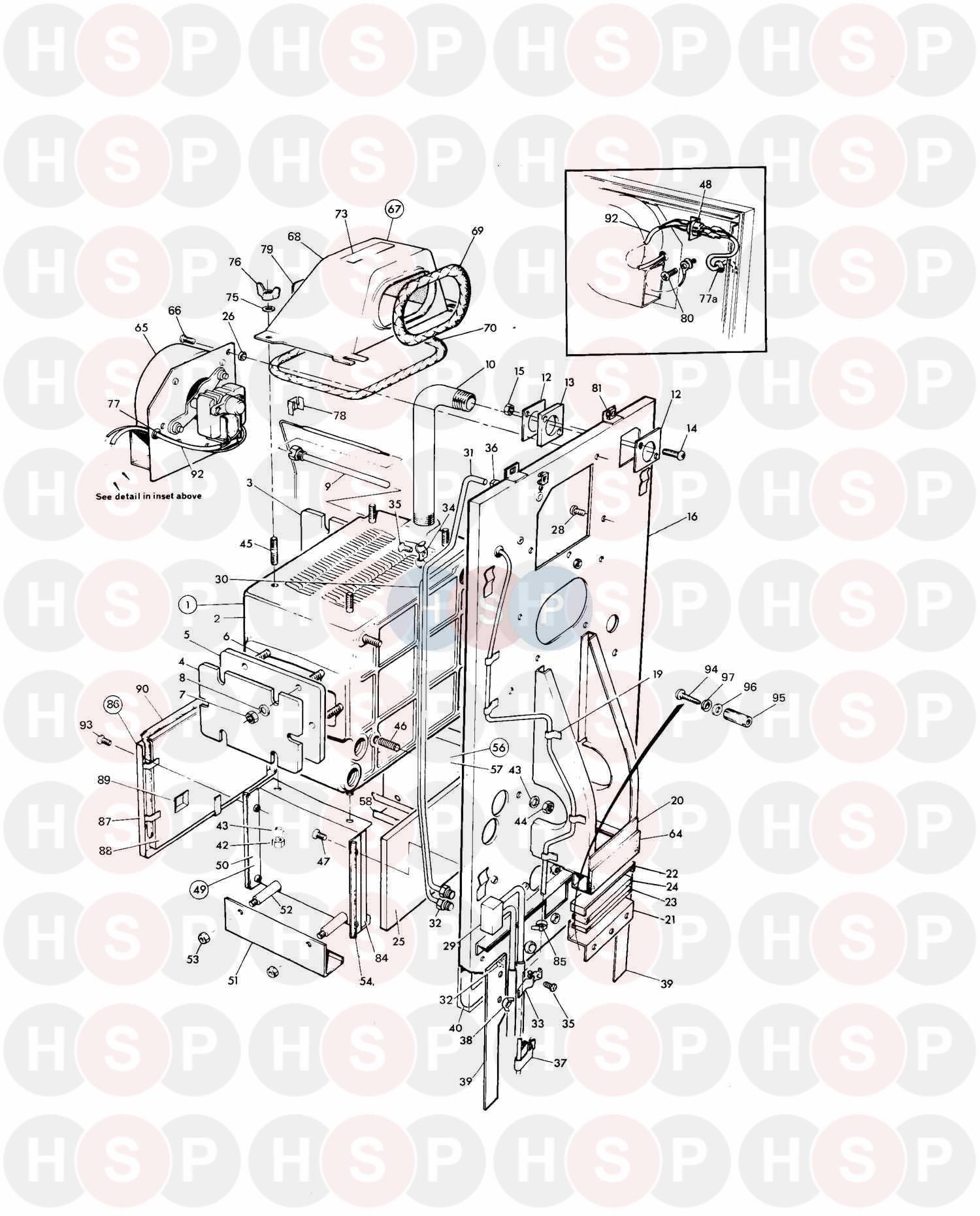 Potterton NETAHEAT MK 2 10/16 (ASSEMBLY 2) Diagram