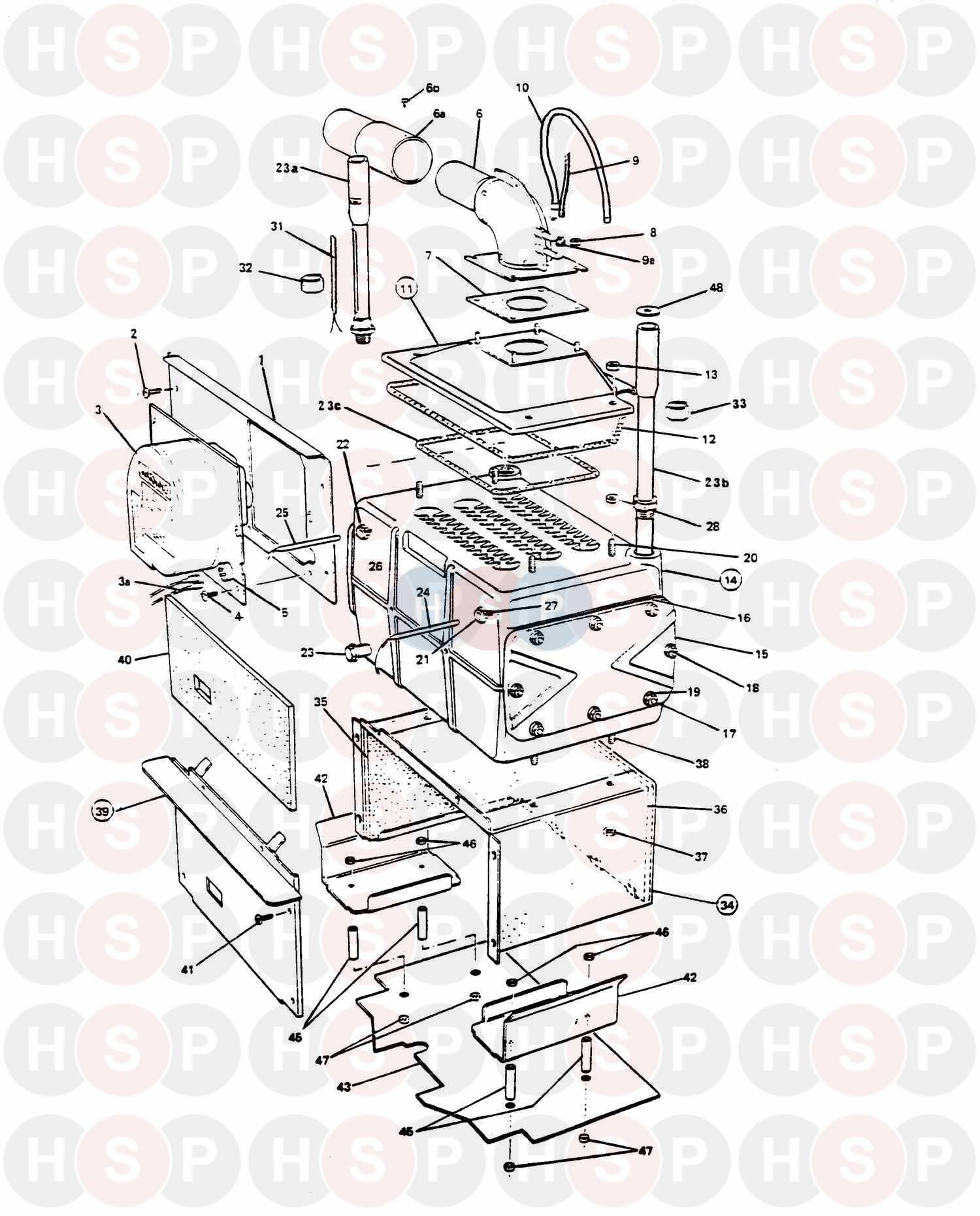 Potterton NETAHEAT PROFILE 50E Appliance Diagram (Boiler