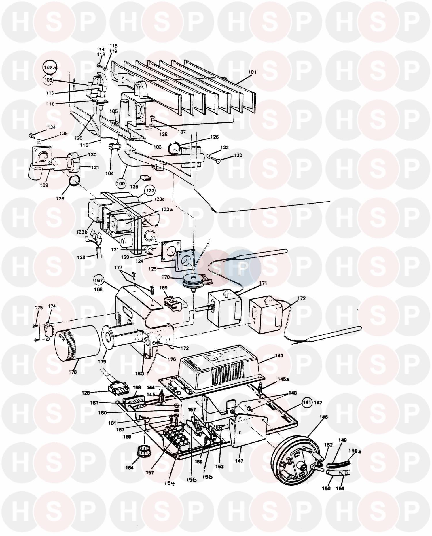 Controls diagram for Potterton NETAHEAT PROFILE 40E Click the diagram to  open it on a new page