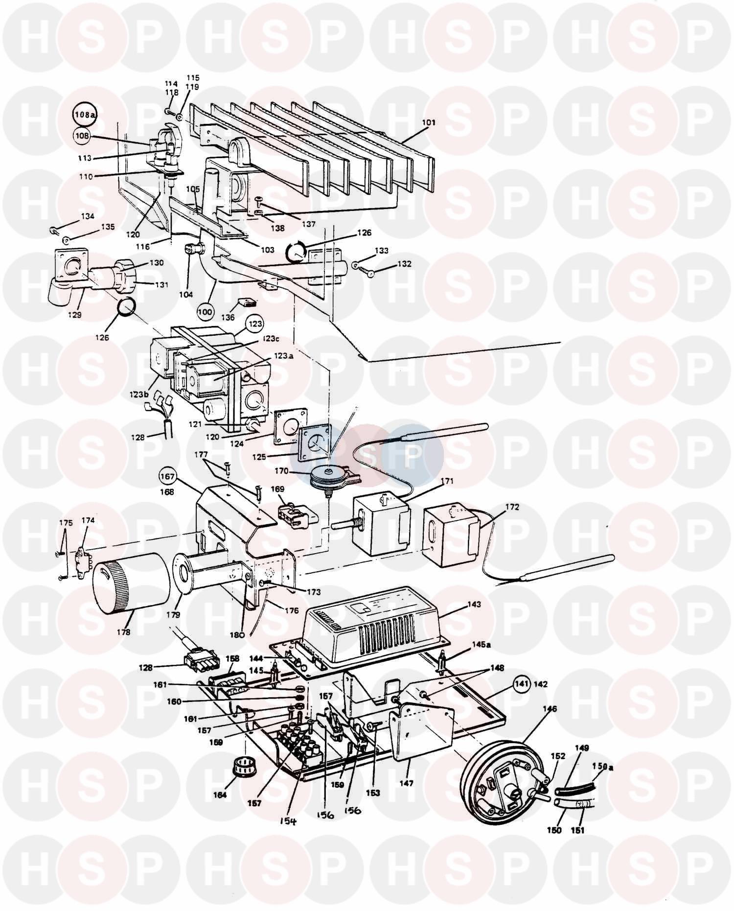 potterton netaheat profile 50e appliance diagram  controls