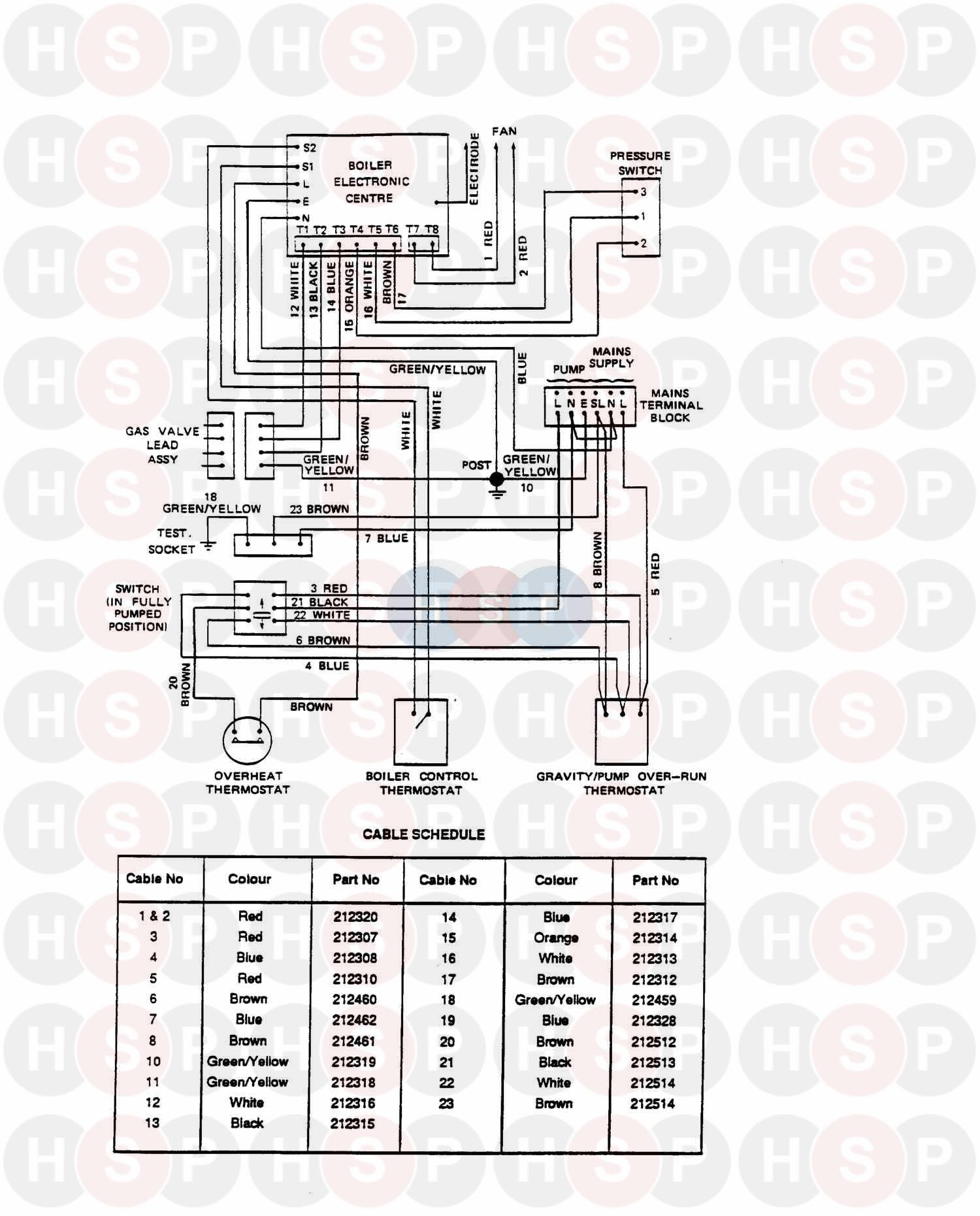 Potterton Netaheat Profile 30e  Wiring  Diagram