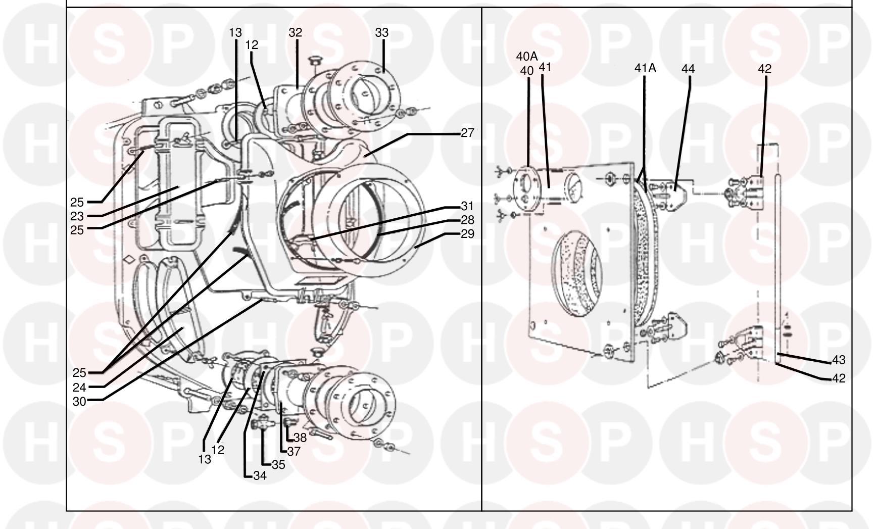 Potterton NXR4 9-17 Section (BOILER COMPONENTS 2) Diagram