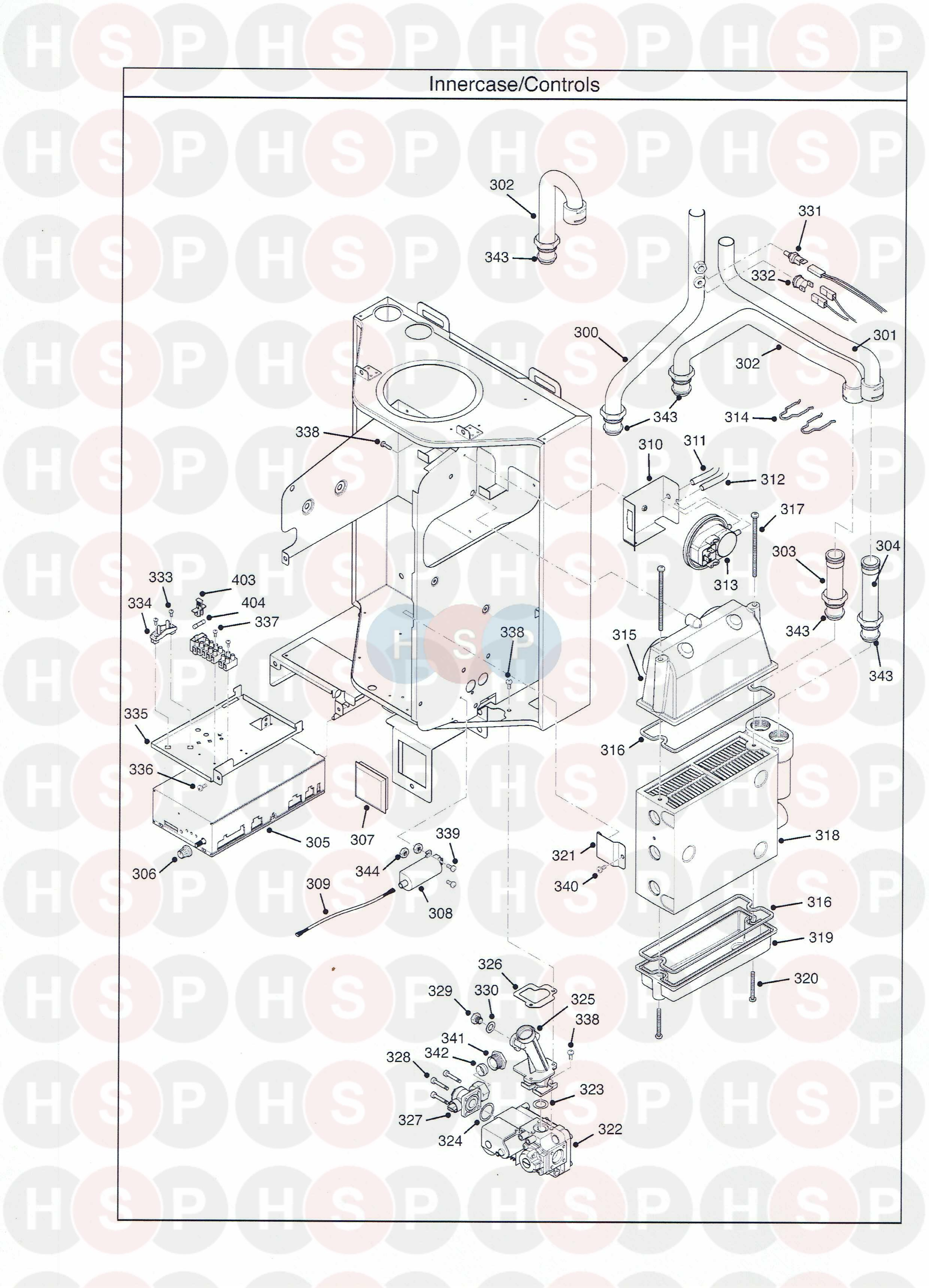 potterton performa 18 sl  inner case  diagram