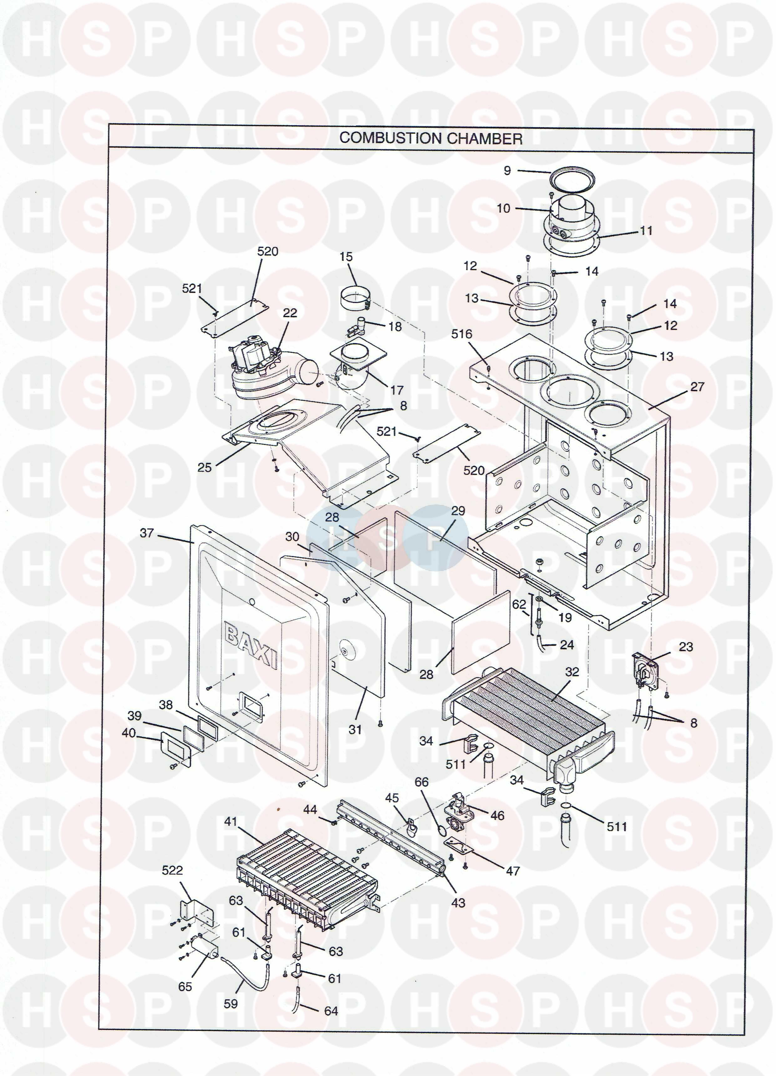 Potterton PERFORMA 28 Appliance Diagram (Combustion Box