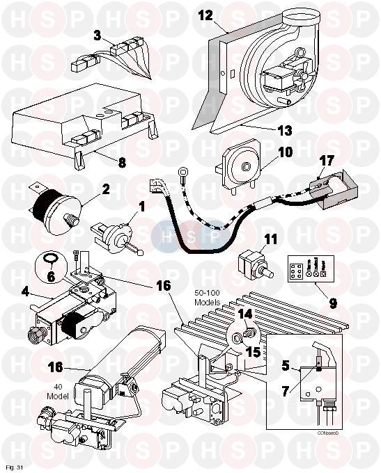 Potterton KINGFISHER MF RSL60 Appliance Diagram (FIRST