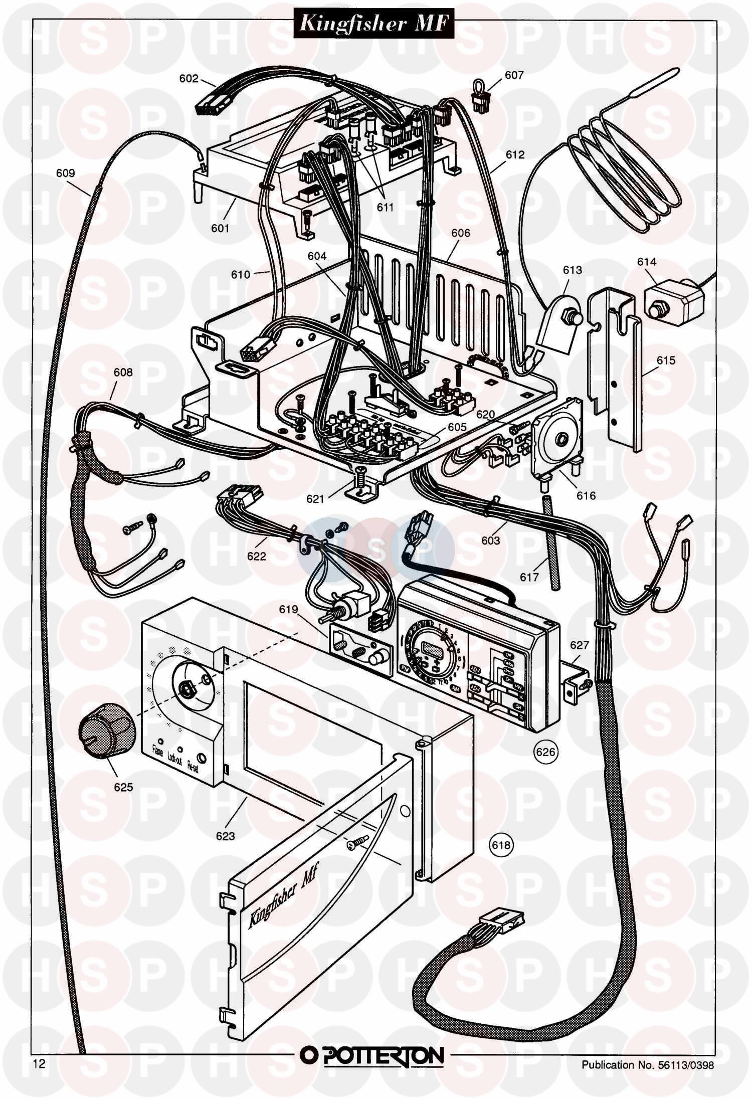 potterton kingfisher mf rs40  assembly 5  diagram