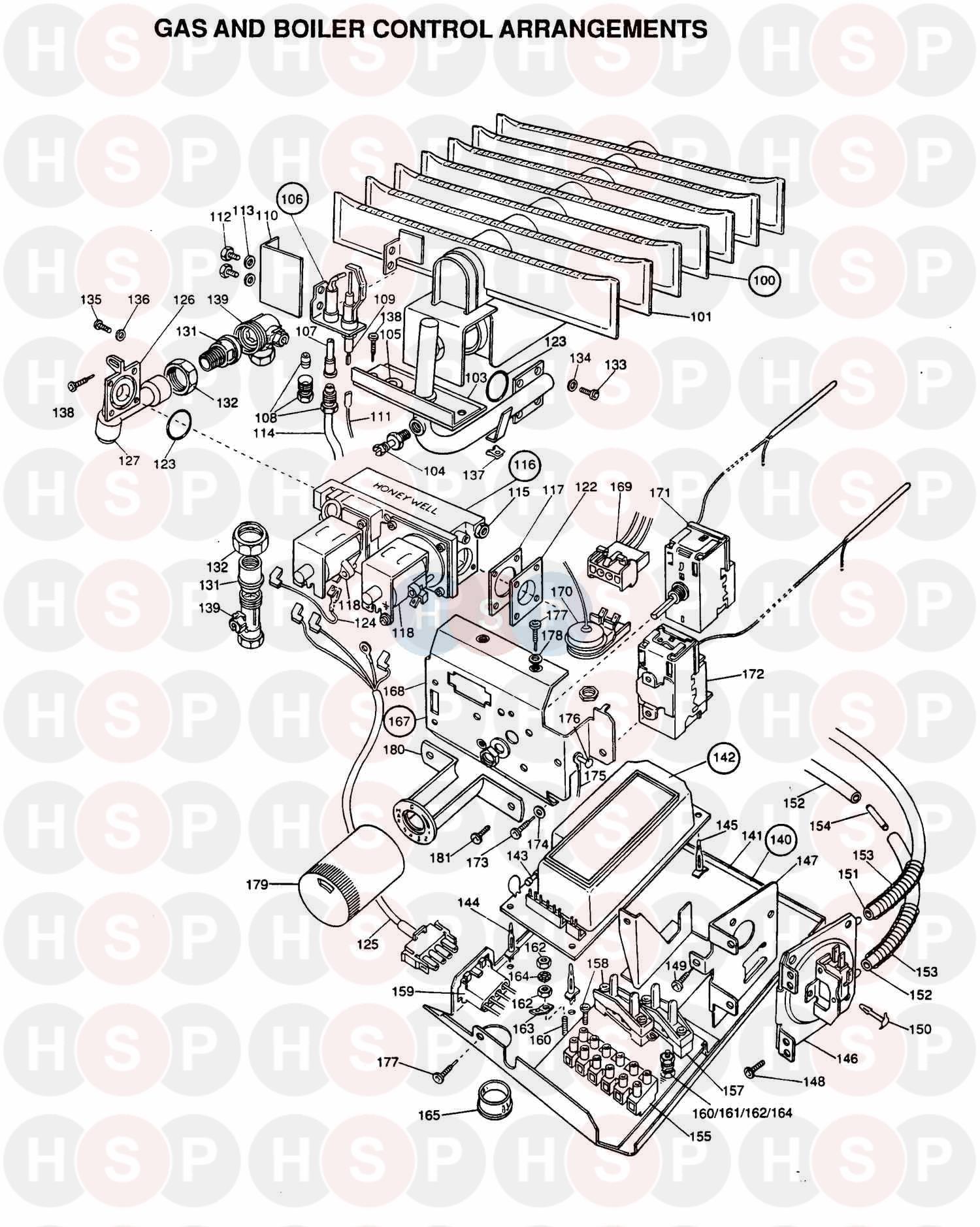 Potterton BRITISH GAS 50 F2 Appliance Diagram (Gas