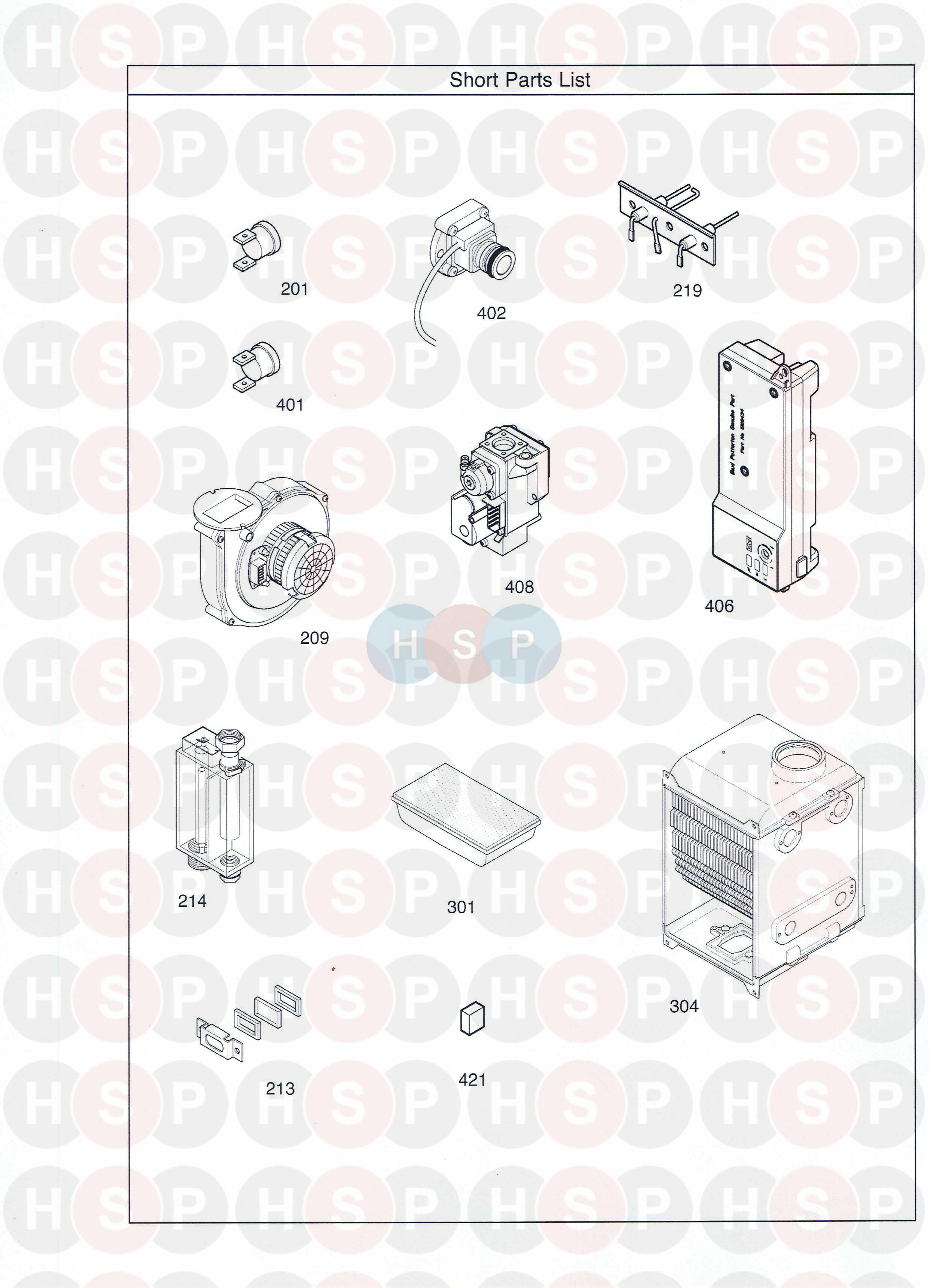 Potterton PROMAX SL15 HE PLUS (SHORT PARTS LIST) Diagram