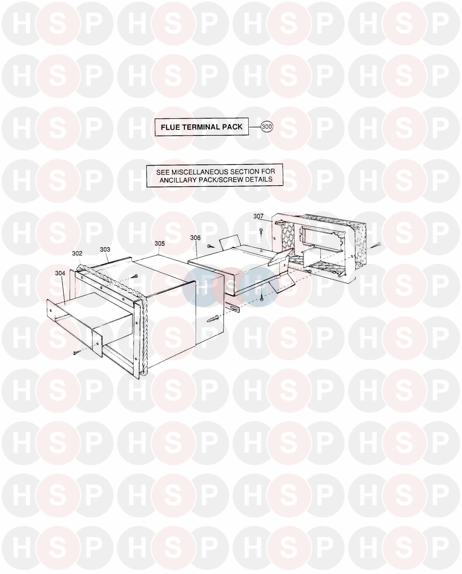 potterton prima c 50 appliance diagram  assembly 1