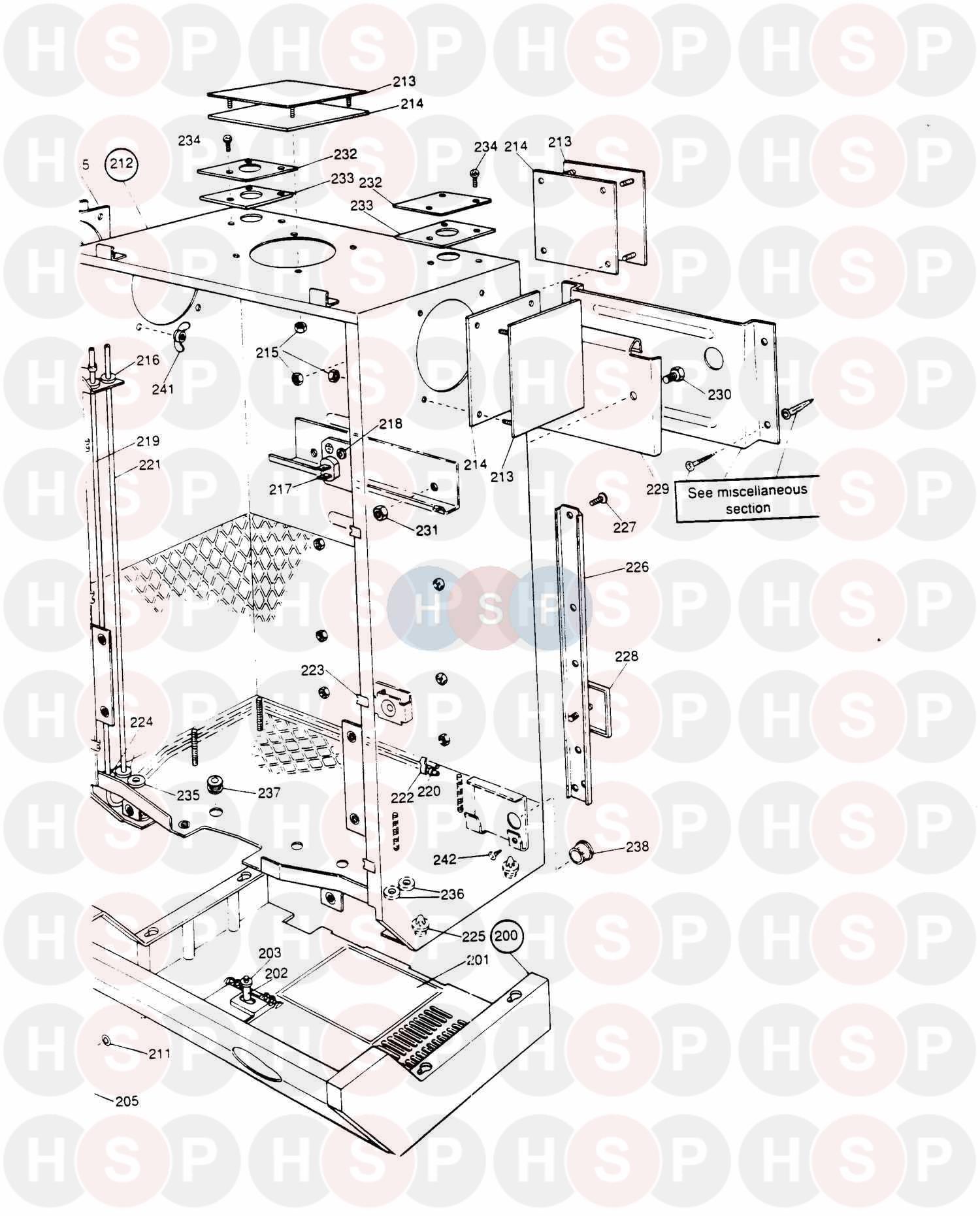 Potterton PROFILE PRIMA 100E (ASSEMBLY 1) Diagram