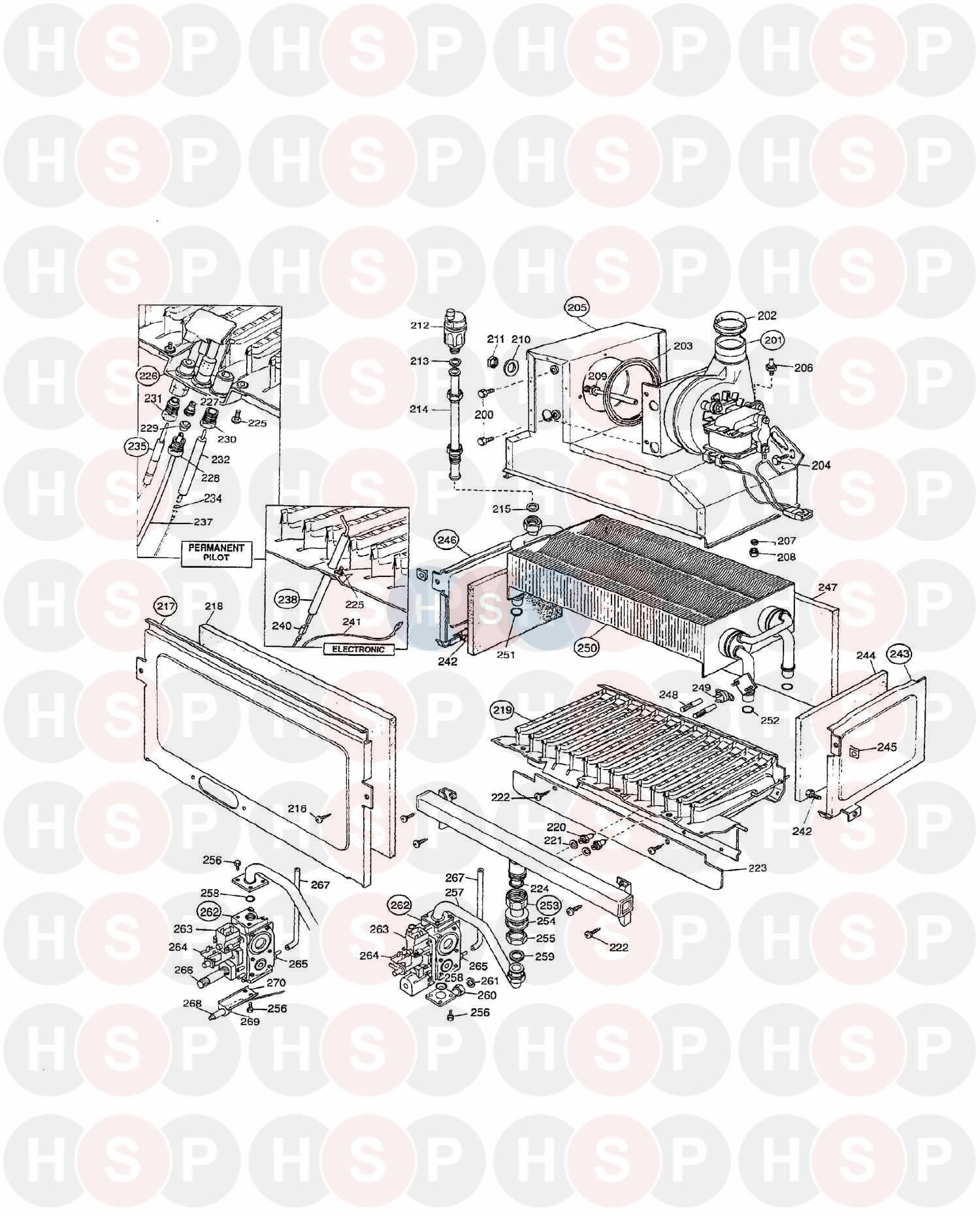 Potterton PUMA 80 E (SIT) Appliance Diagram (Boiler & Gas