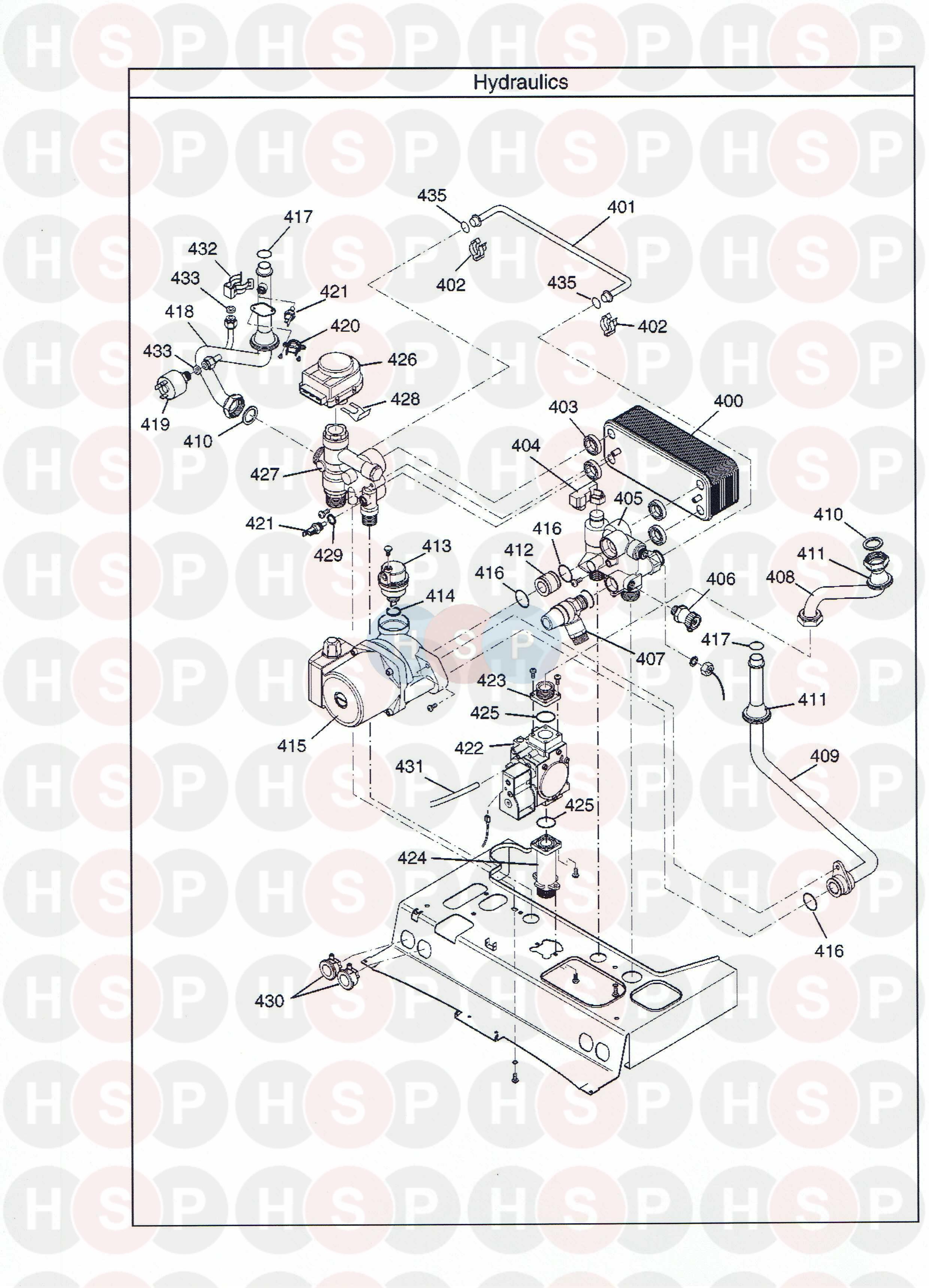 Potterton PROMAX COMBI 28 HE PLUS A Appliance Diagram