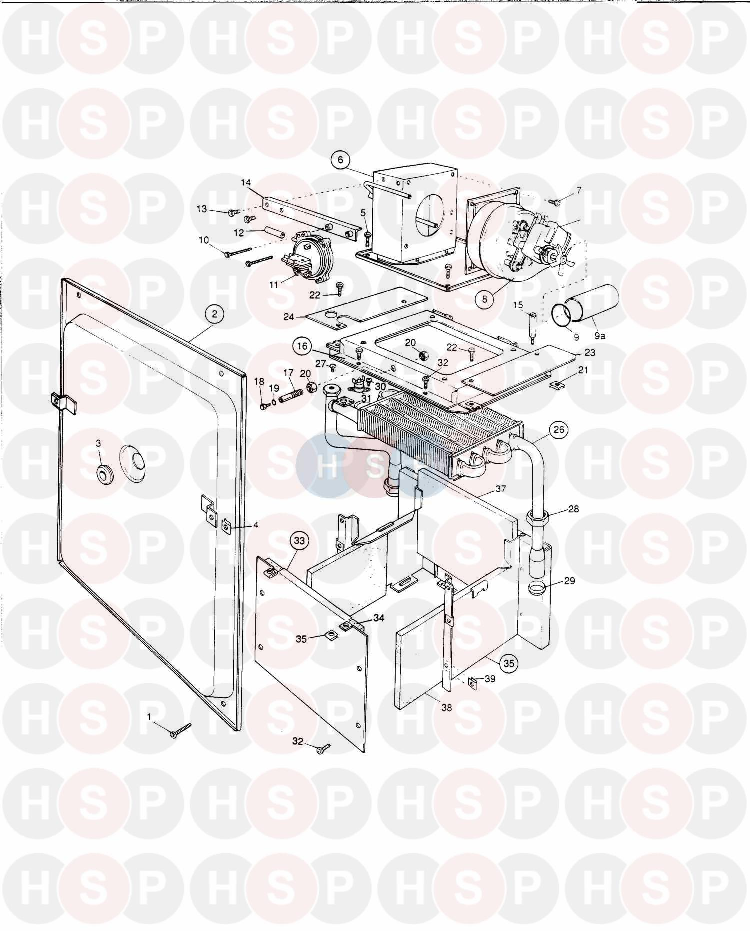 Potterton ULTRA 60 Appliance Diagram (ASSEMBLY 1