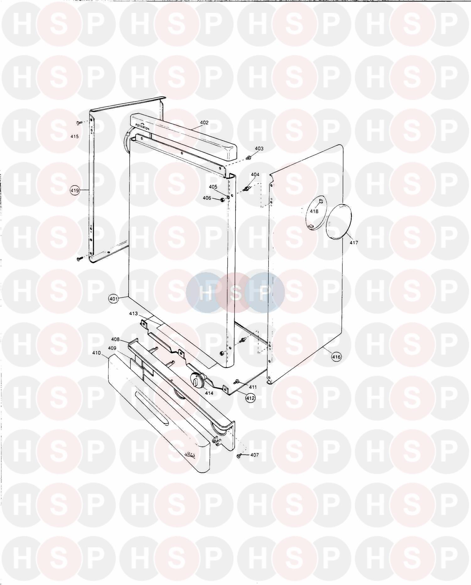 Potterton ULTRA 50 Appliance Diagram (Outer Case