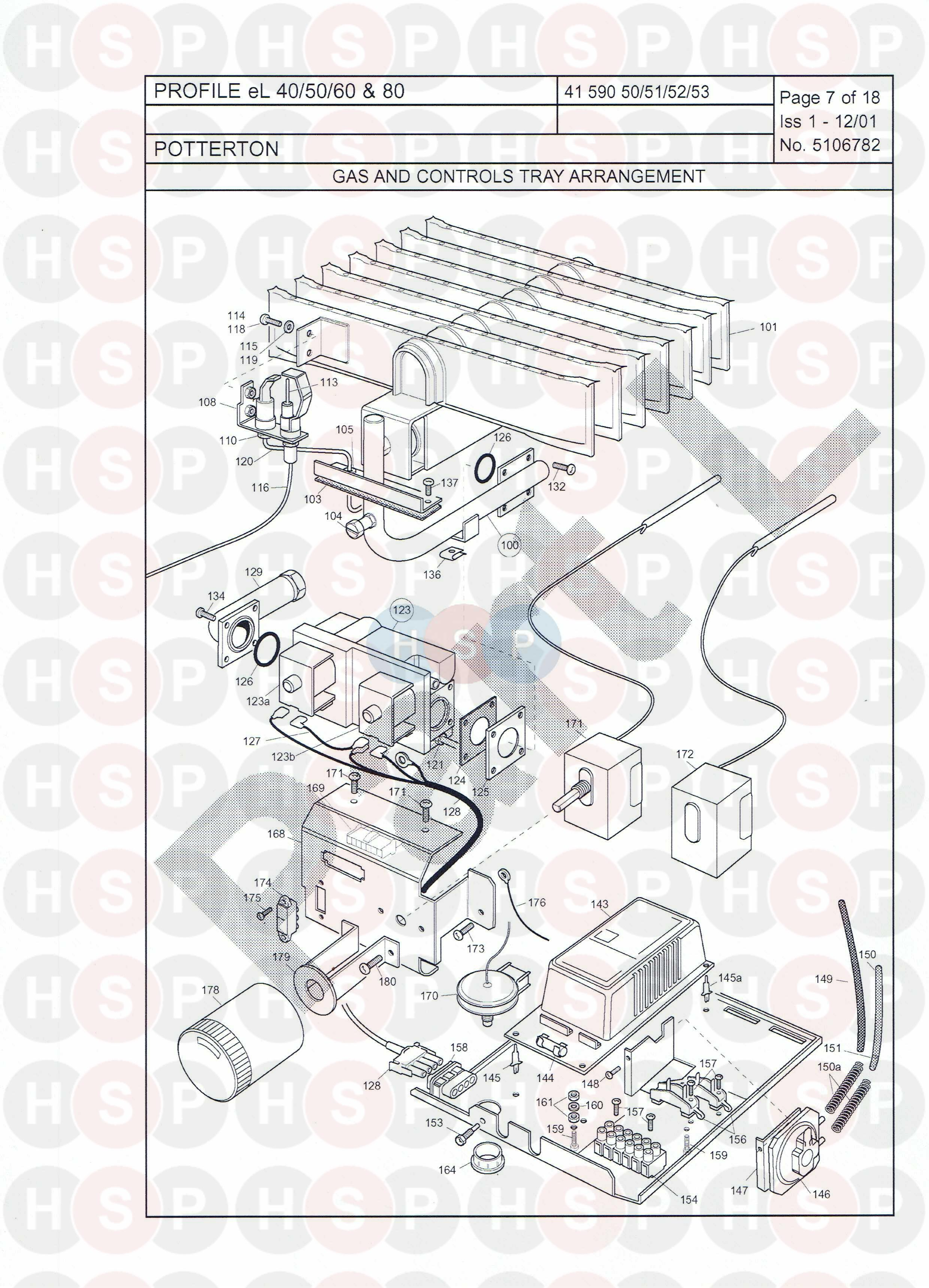 potterton profile 50el appliance diagram  gas  u0026 boiler