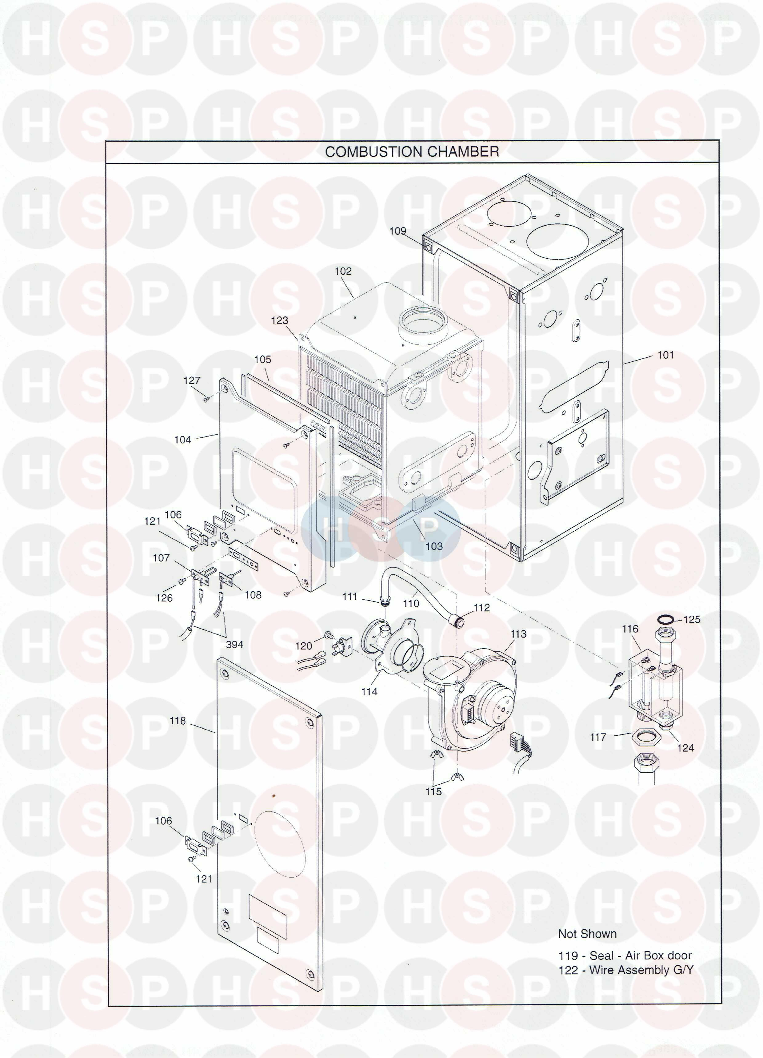 Potterton PROMAX HE SYSTEM (Combustion Chamber) Diagram