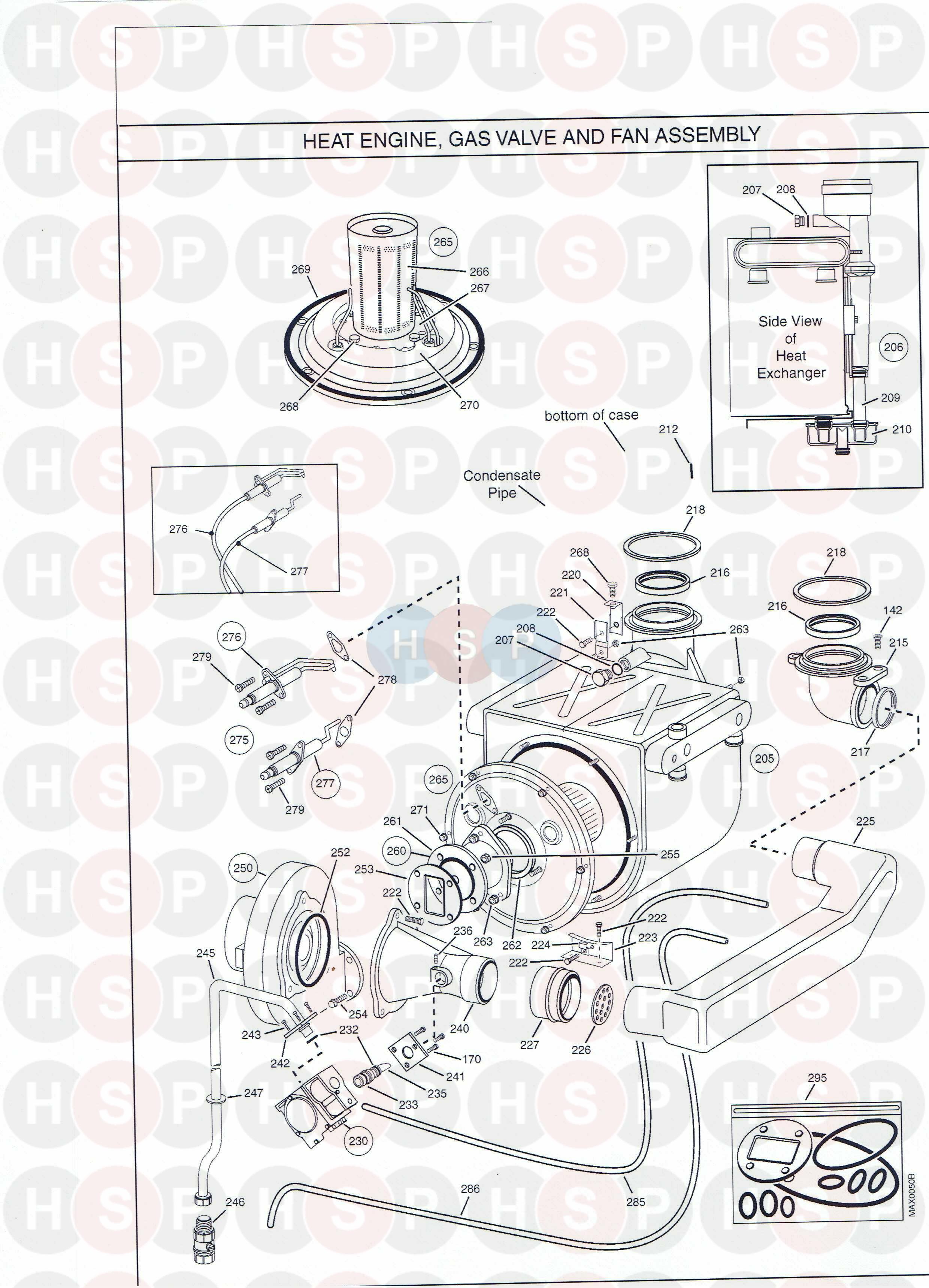 Potterton POWERMAX 115 HE (HEAT ENGINE GAS VALVE FAN