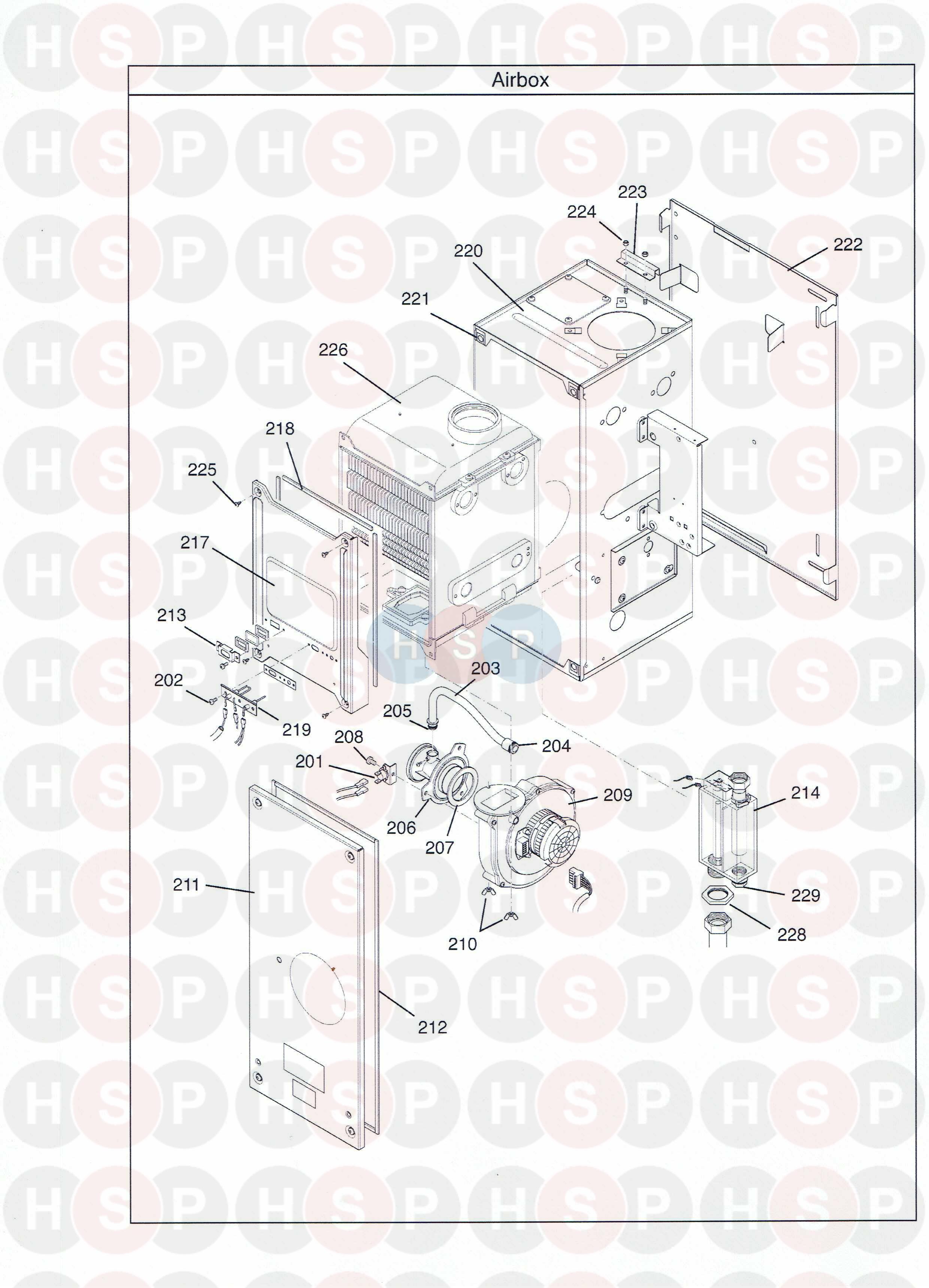Potterton PROMAX SL15 HE PLUS (Combustion Box) Diagram
