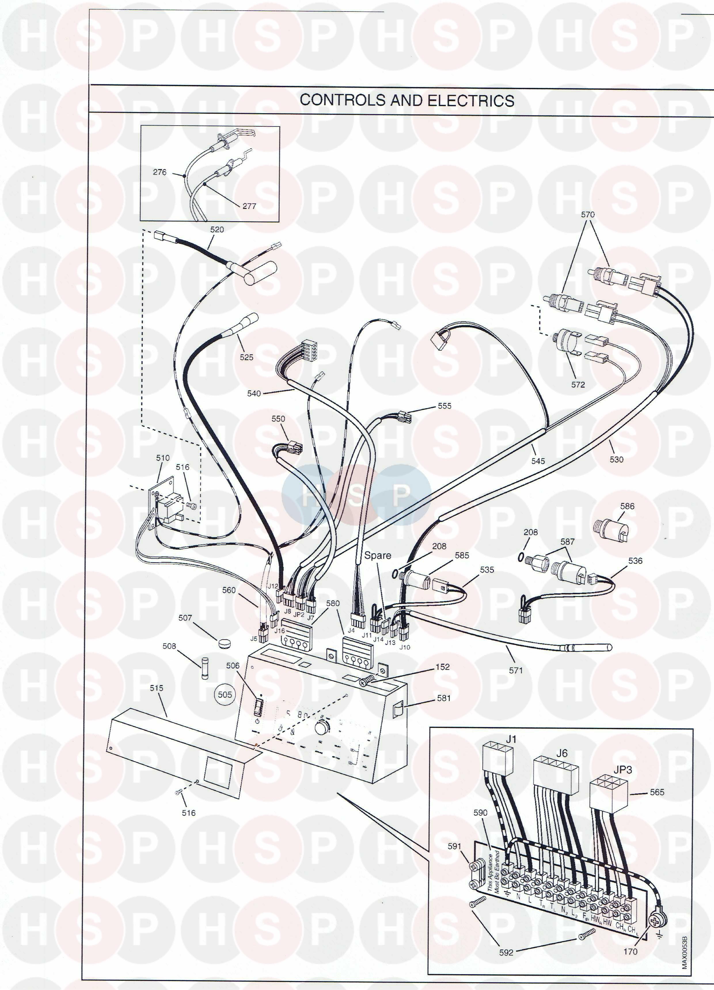 potterton powermax 85 he appliance diagram  controls
