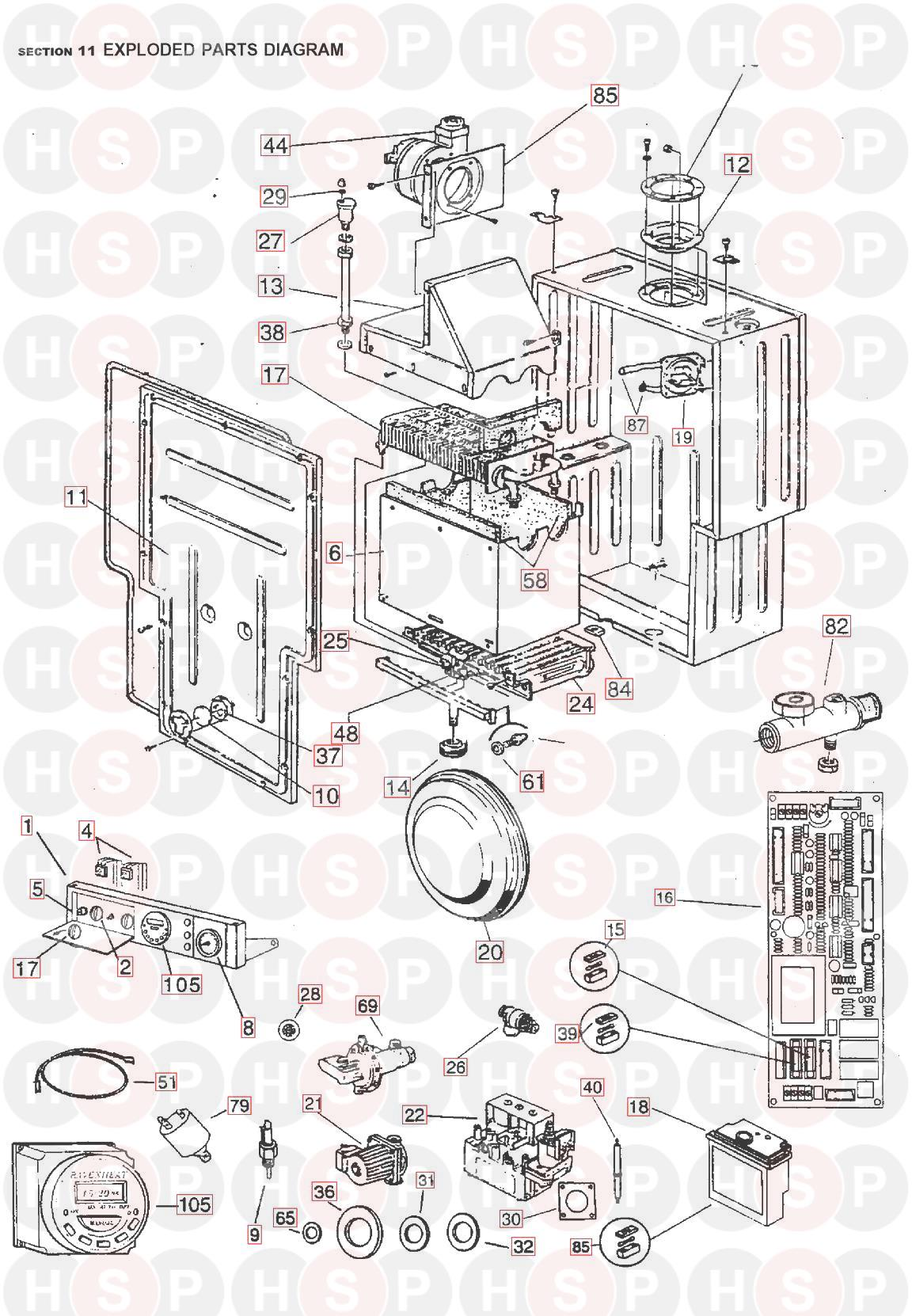 VALVOLA deviatrice RAVENHEAT per RSF 82E 82et 84E 84et 100E /& 100et Deviatore Valvola Rondella 5018030